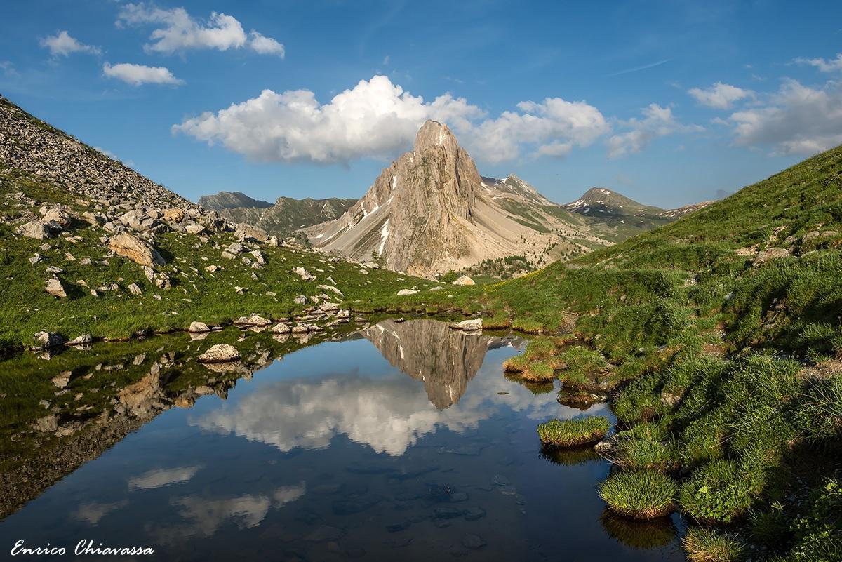 Rocca la Meja nel laghetto della Gardetta...