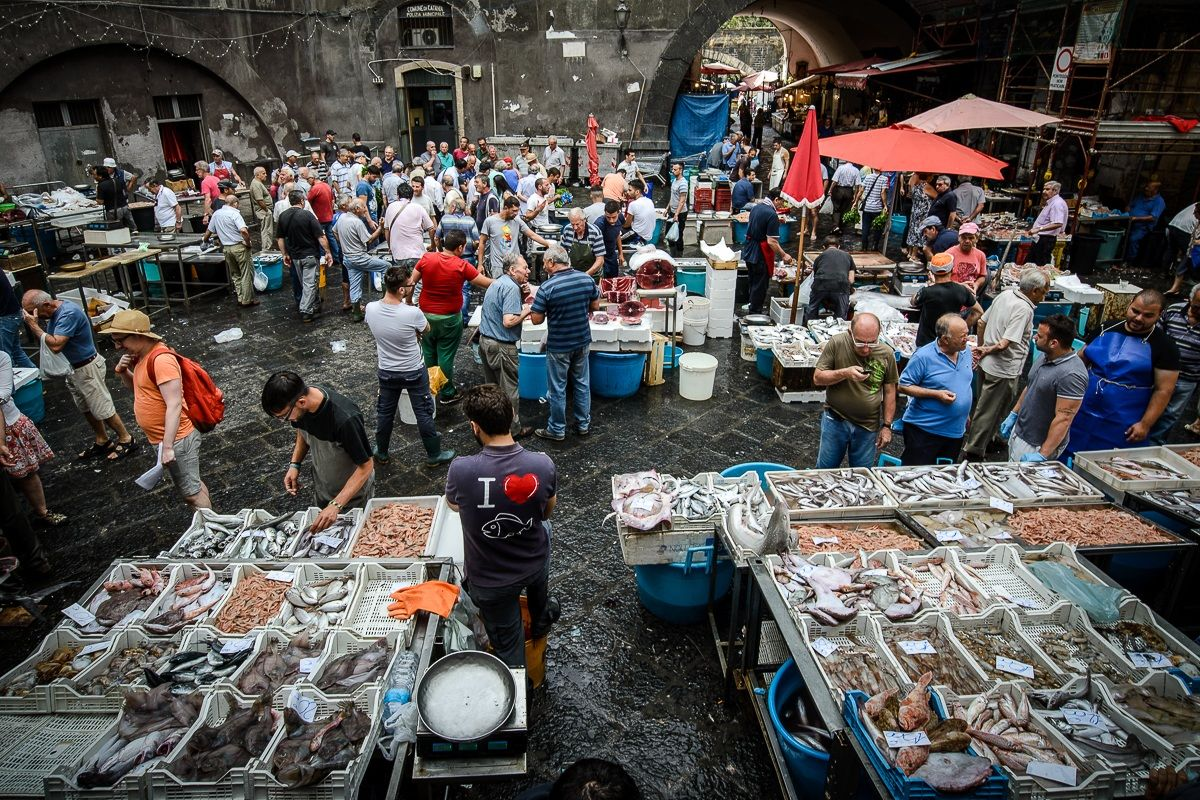 Il mercato del pesce...