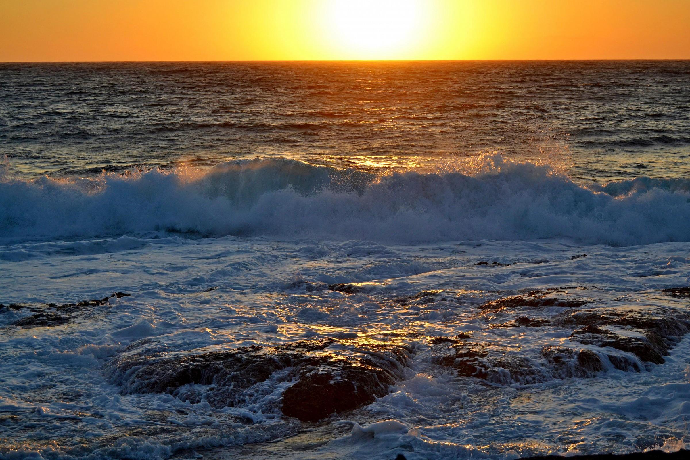 Waves at sunset...