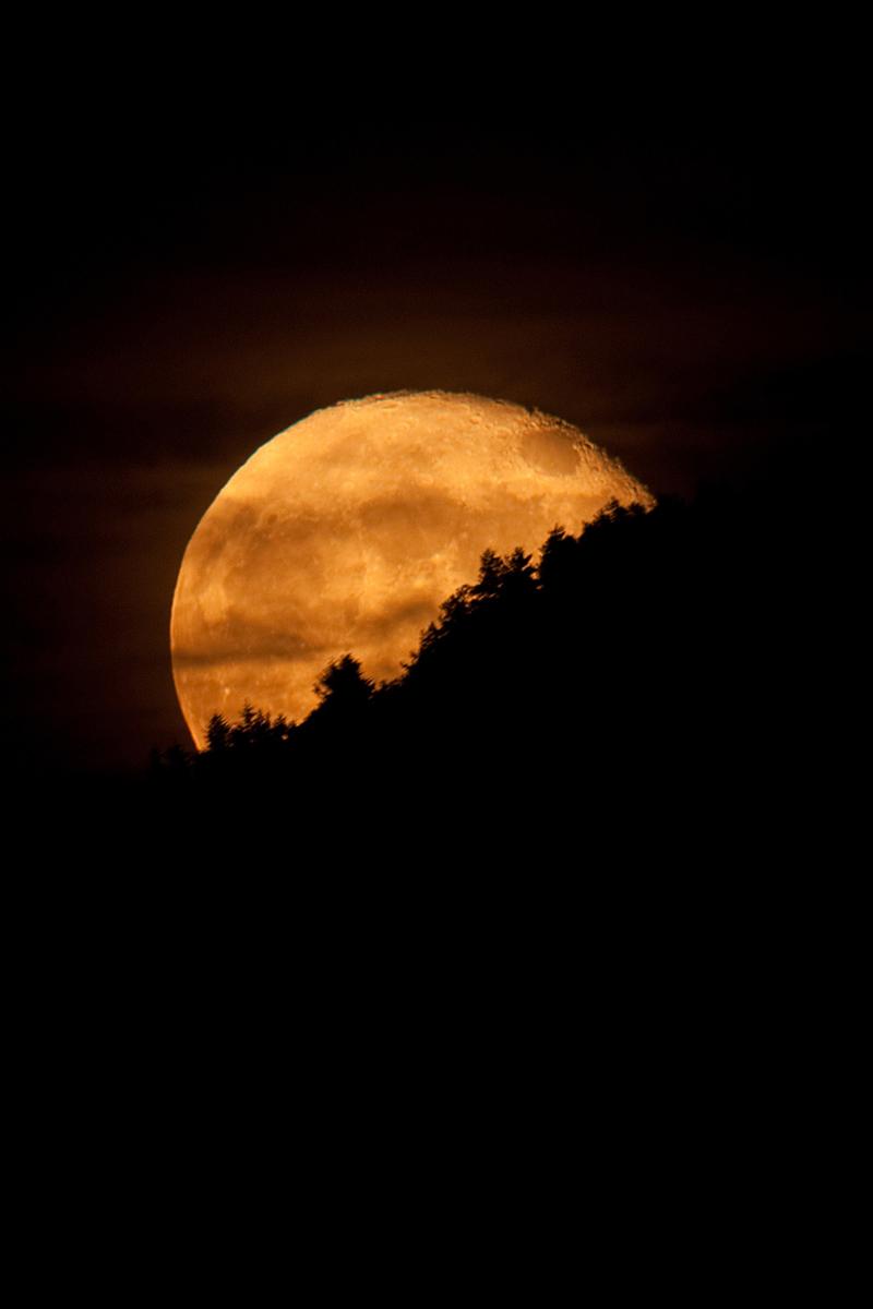 Il sorgere della luna...