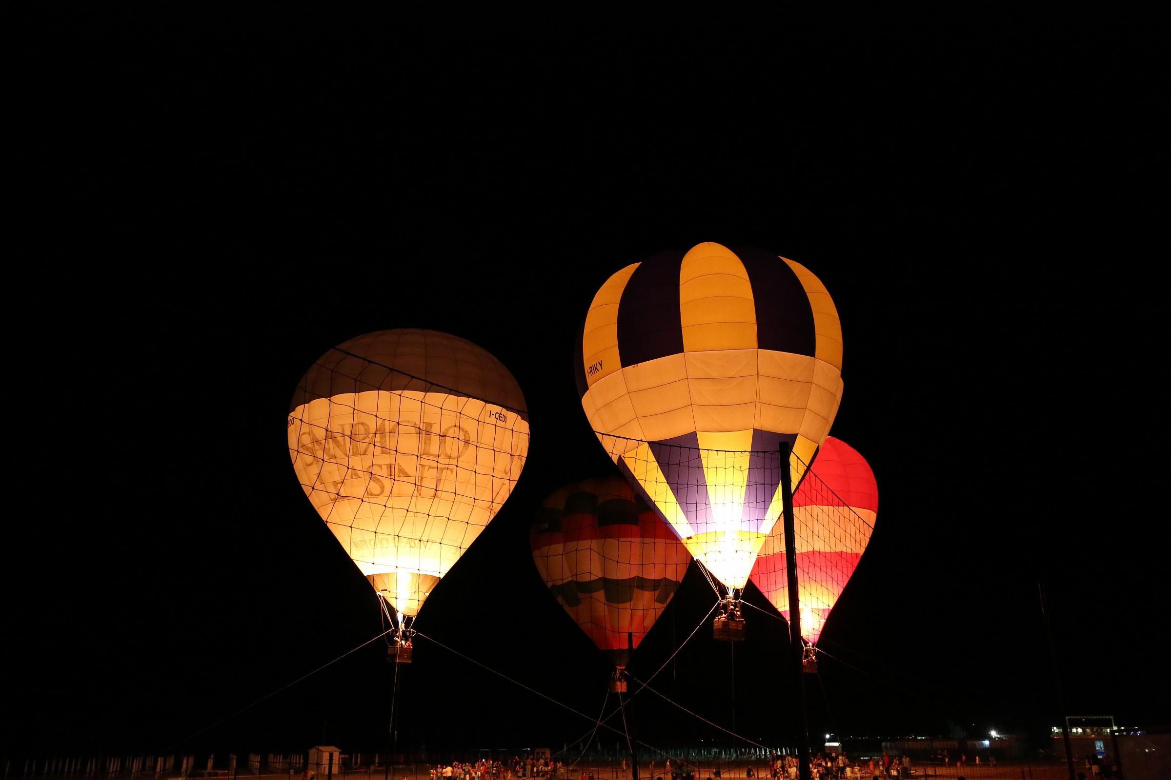 The large lanterns...
