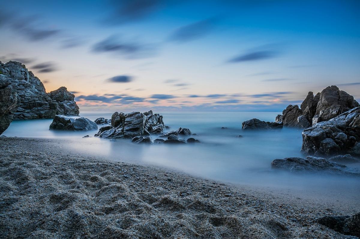 Sunset on the Tyrrhenian Sea...