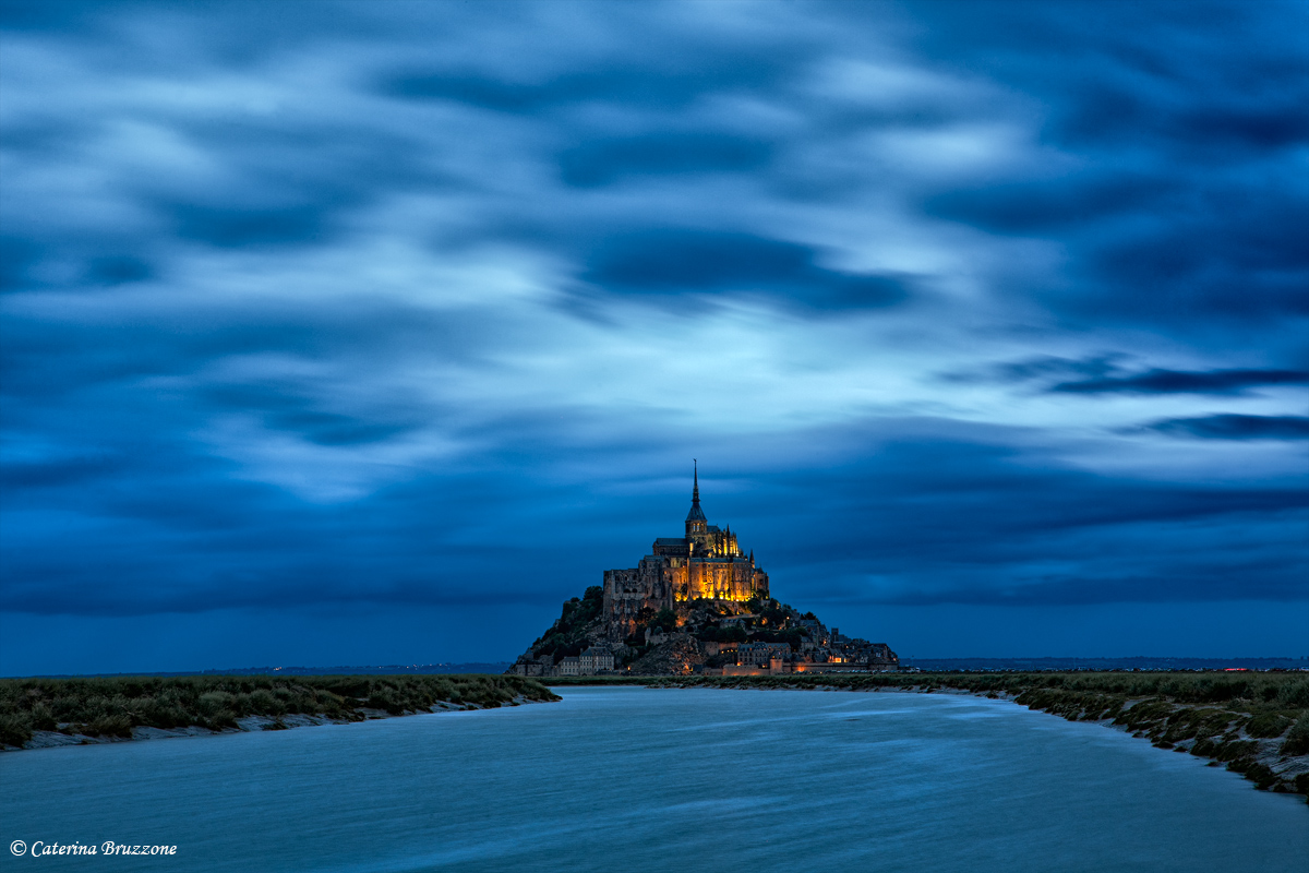 Mont Saint Michel blue hour...