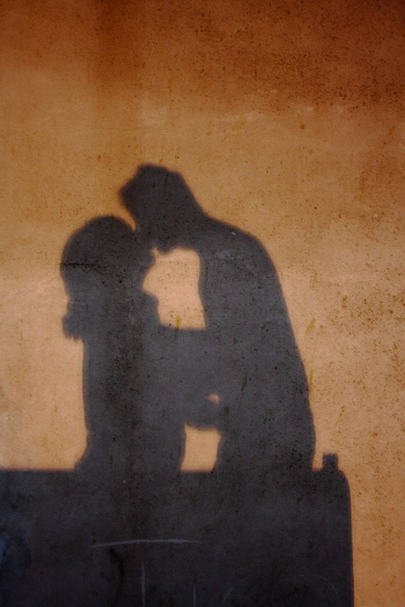 the shadow of a kiss...