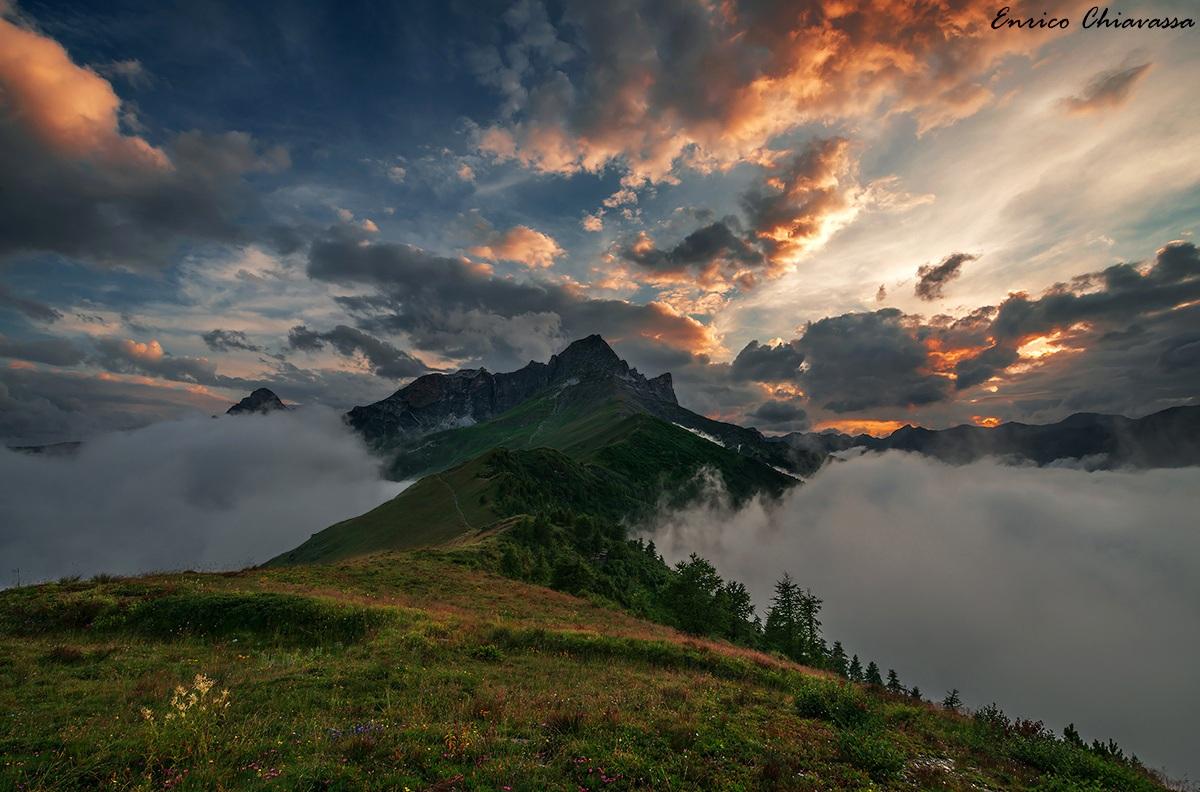 Monte Pelvo d'Elva al tramonto...