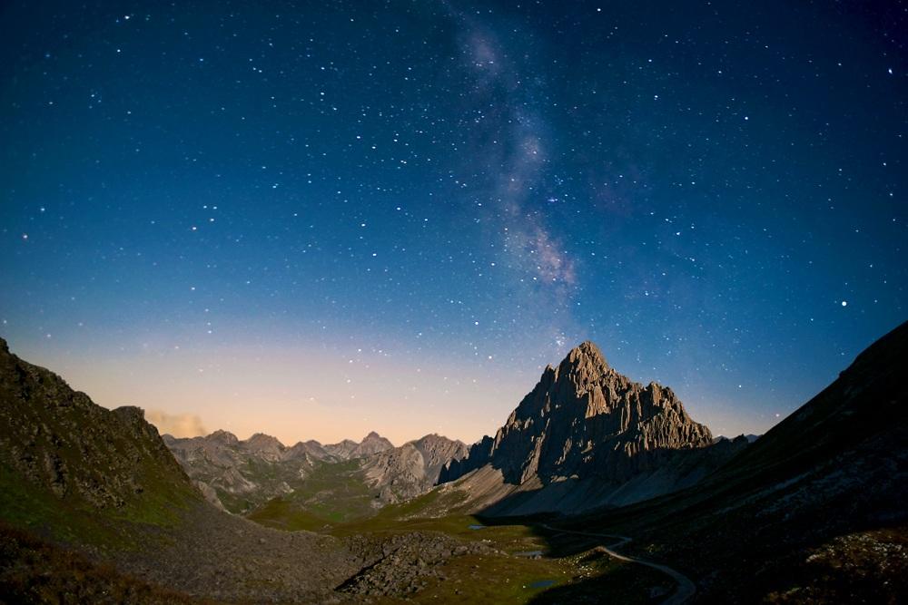 Milky Way on Rocca la Meja...