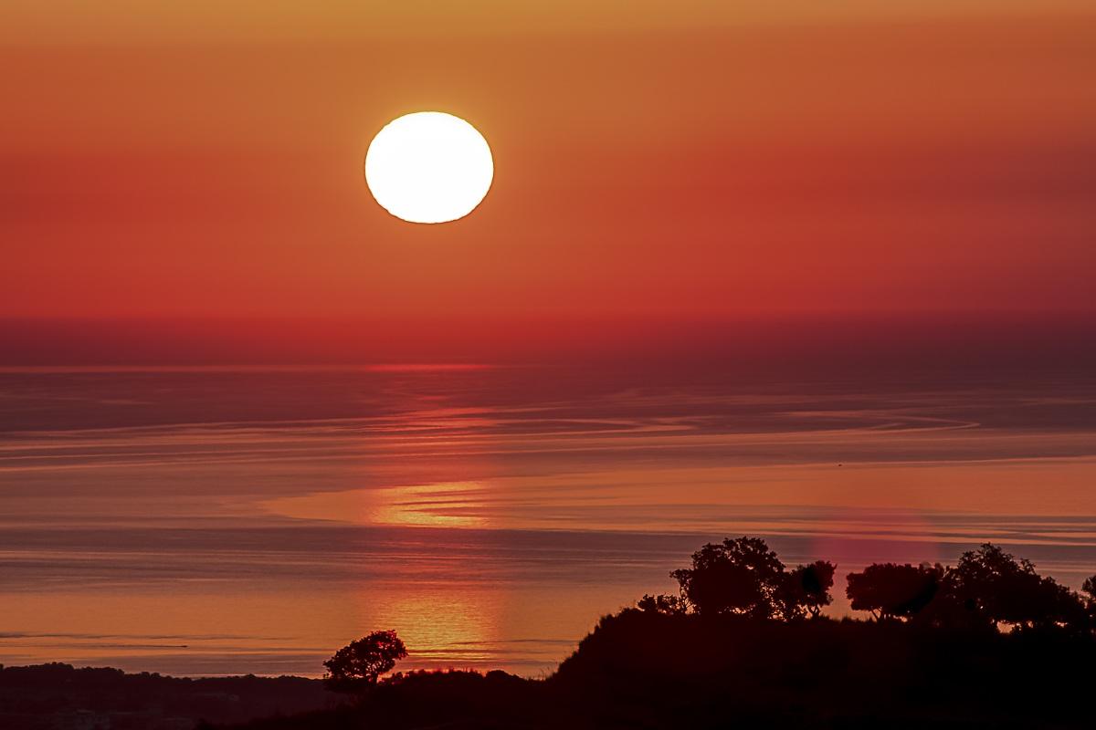 Sunrise on locride...