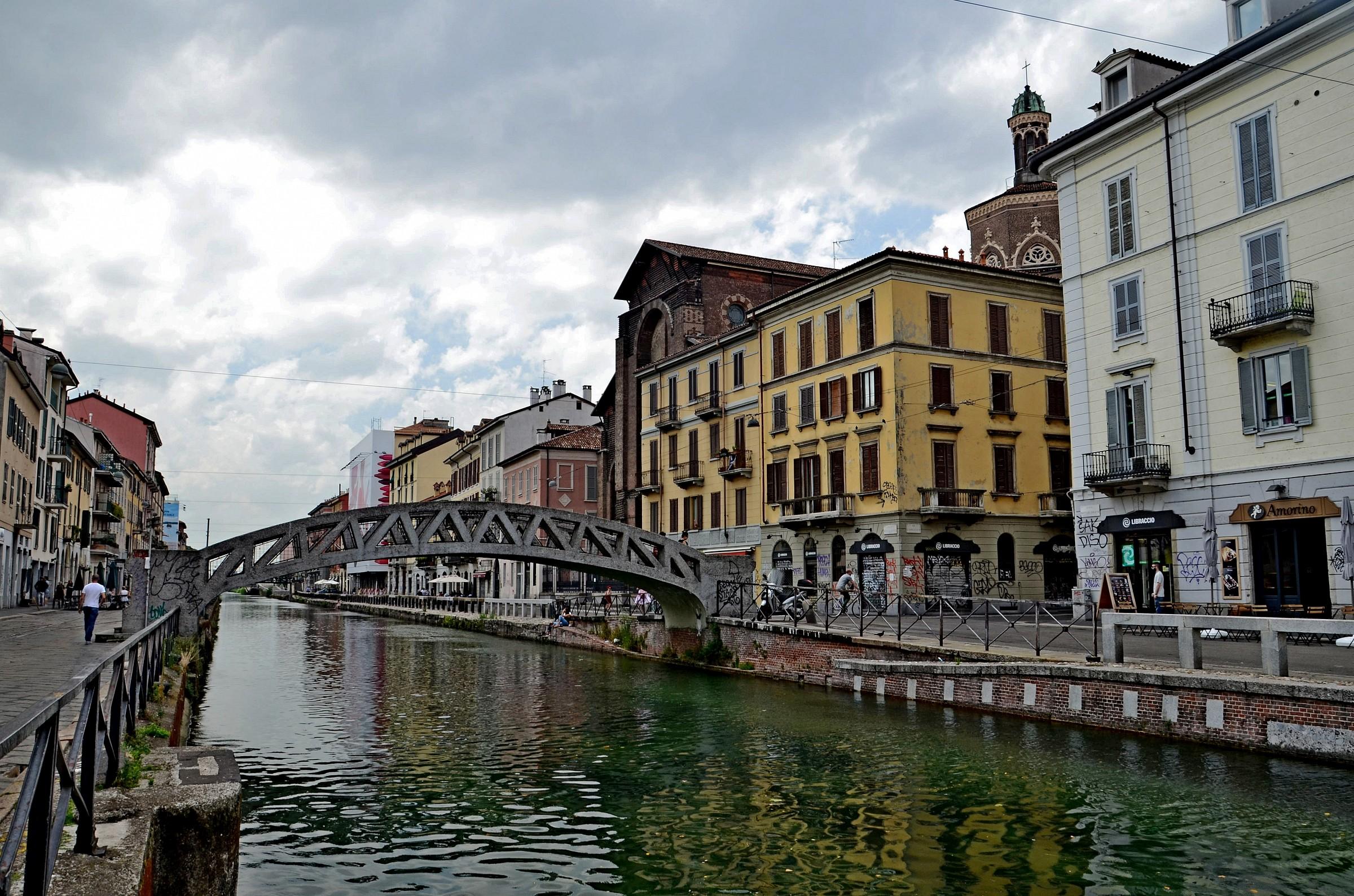 Milan and the Naviglio Grande...