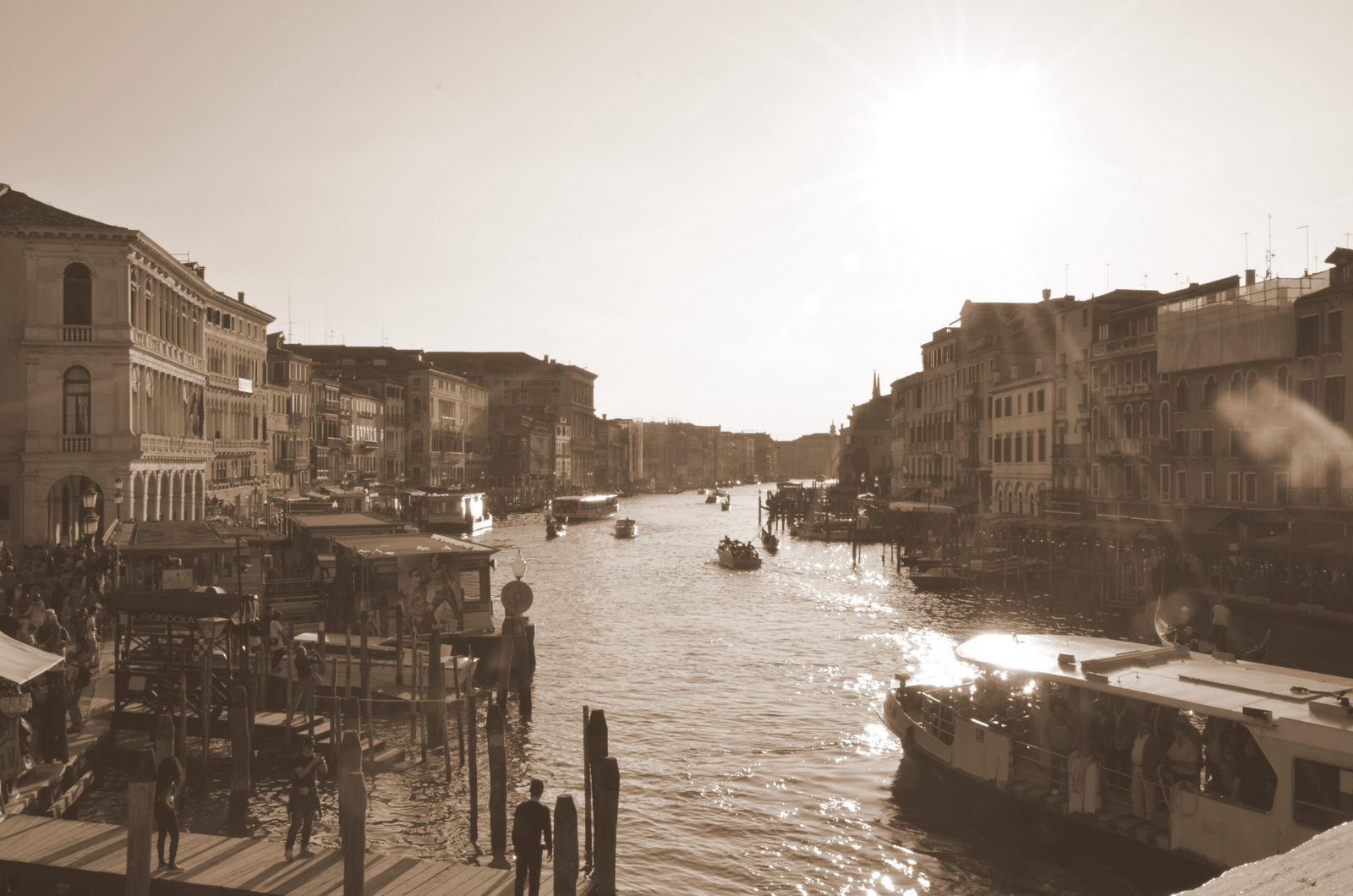 From Rialto at sunset...