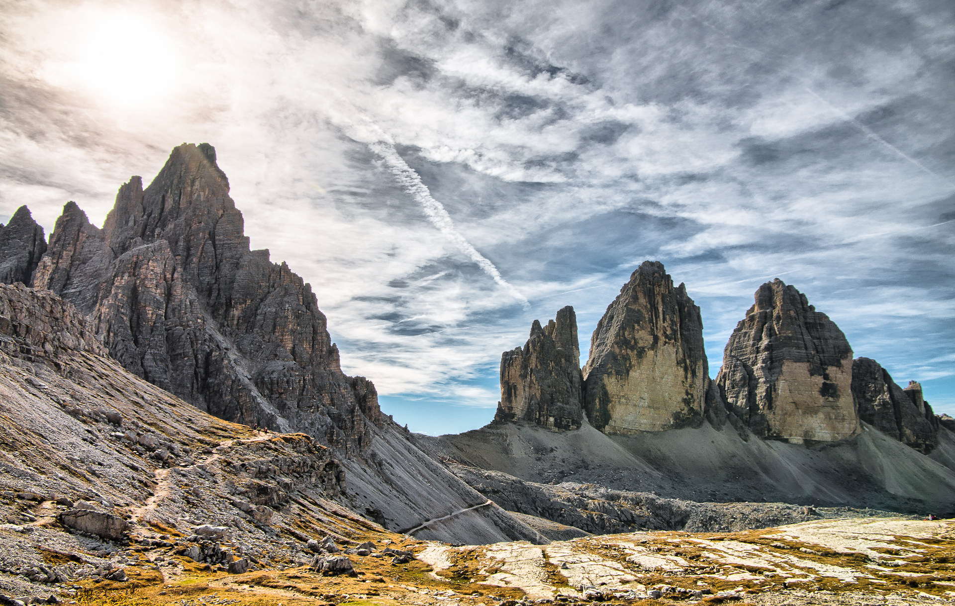 Three Peaks and Monte Paterno...