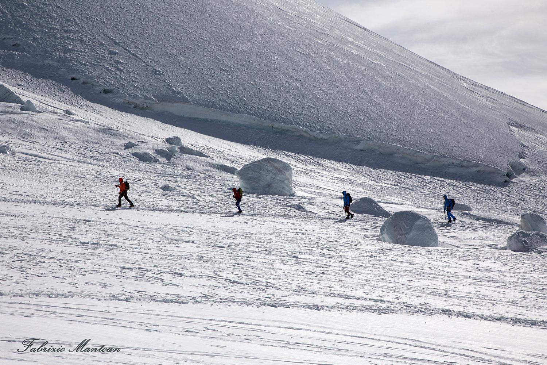 A spasso sul ghiacciaio...