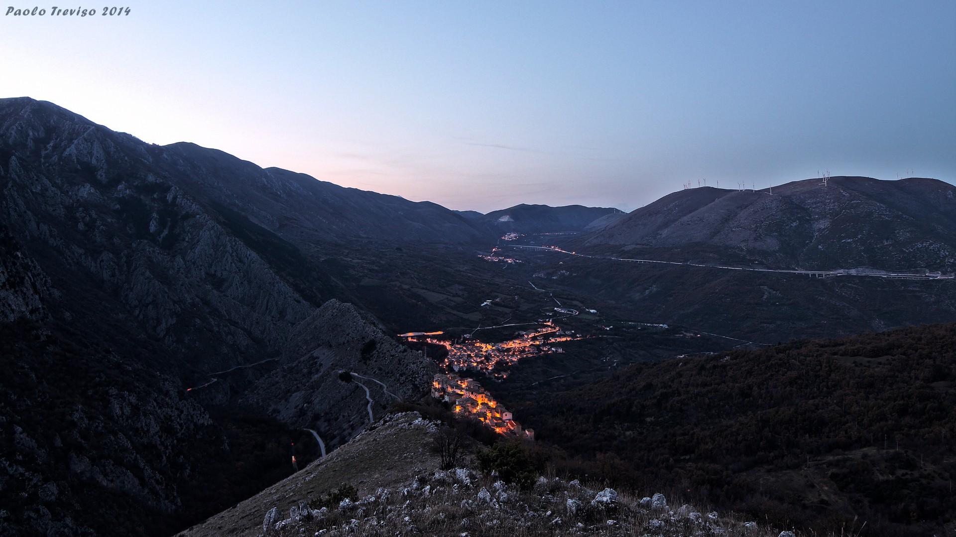 twilight mountain...