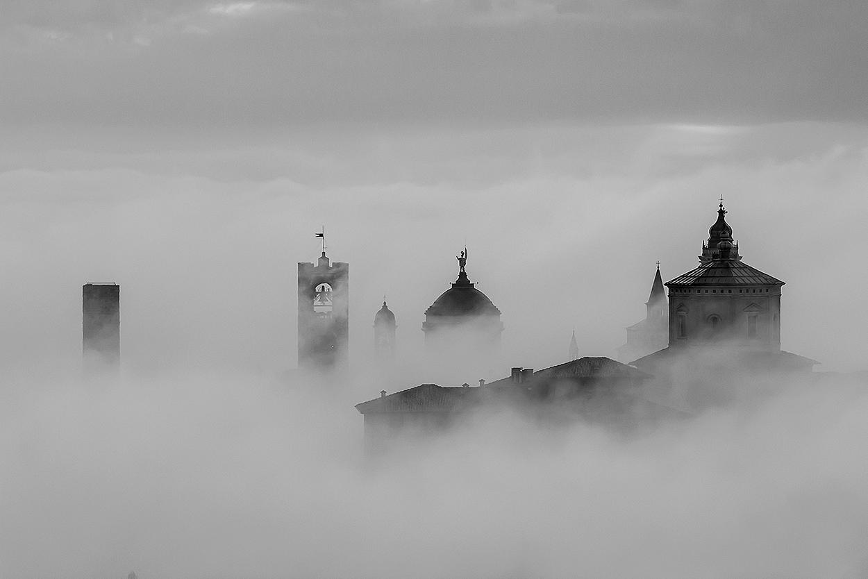 city ??high in the fog!...