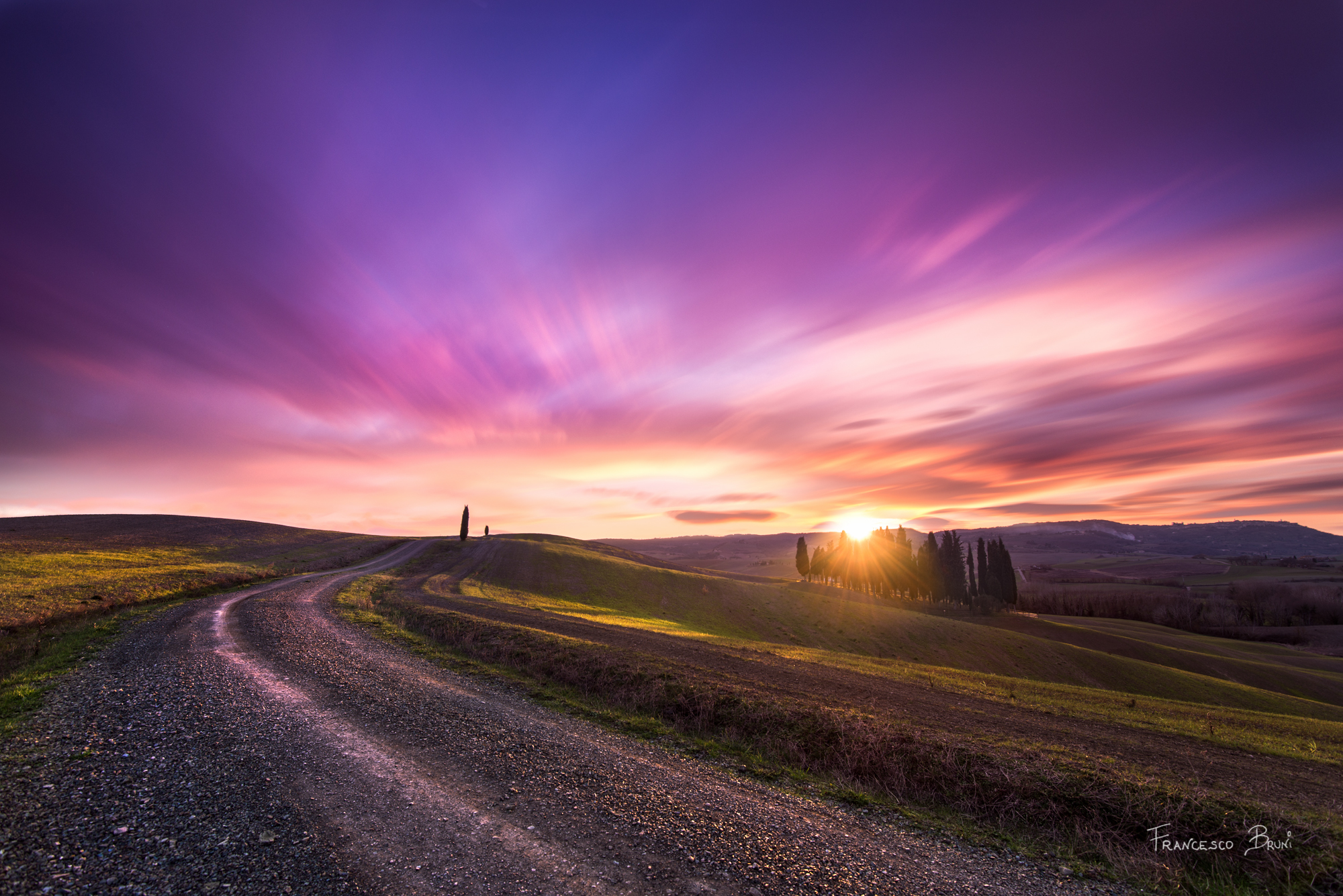 A trivial sunset in Valdorcia...