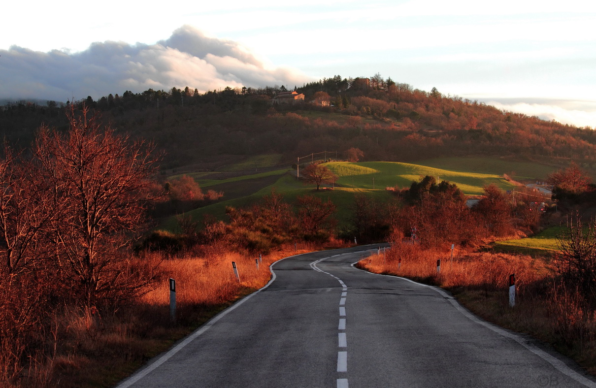Direction Val d'Orcia...