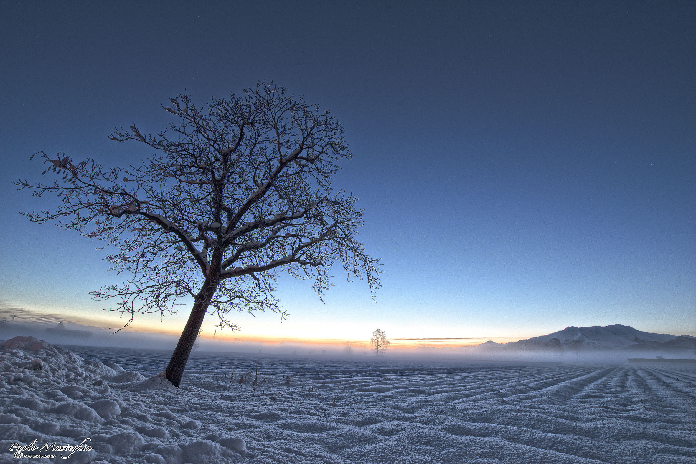 The dawn after heavy snowfall ......