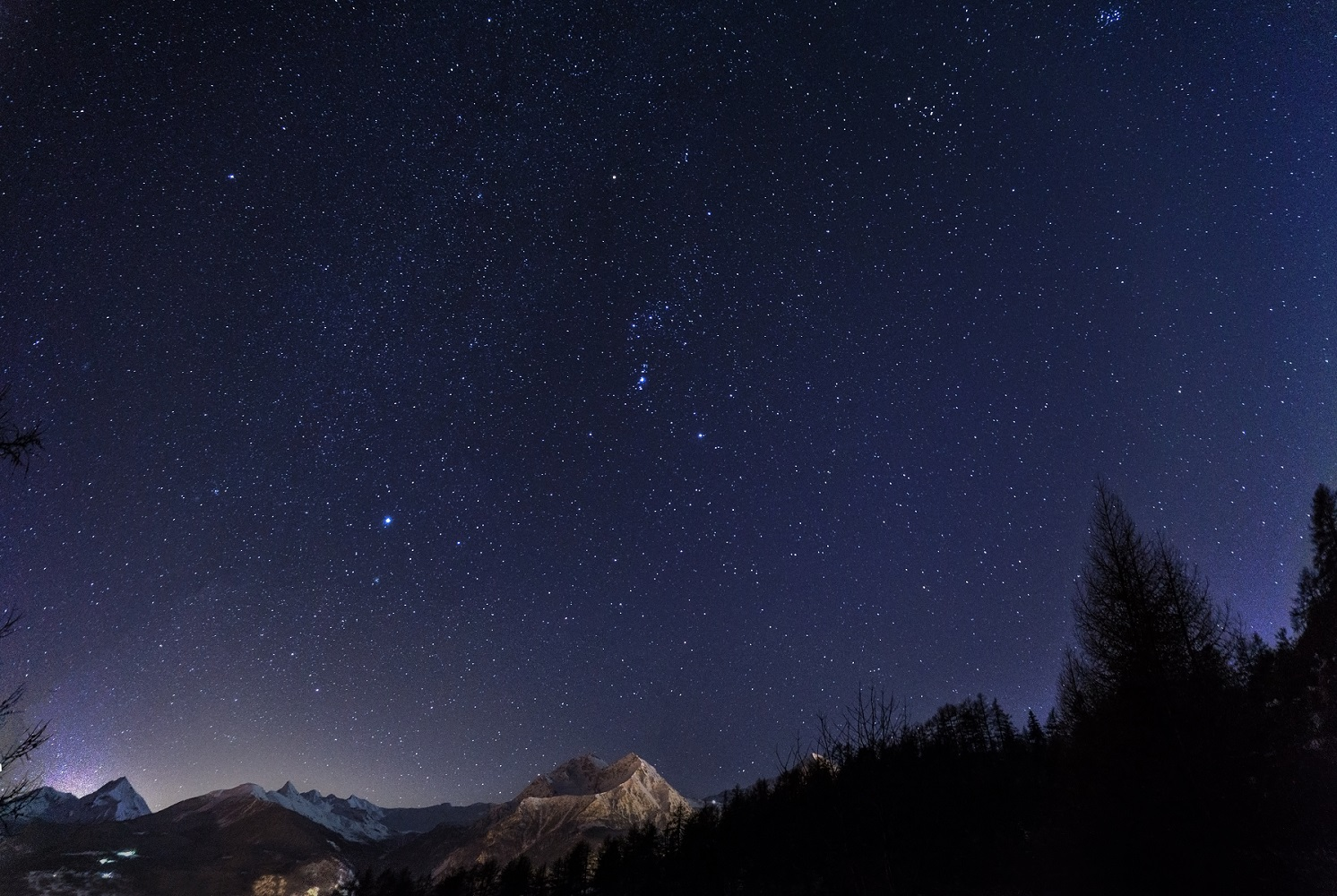 First attempt to photograph the Milky Way ......