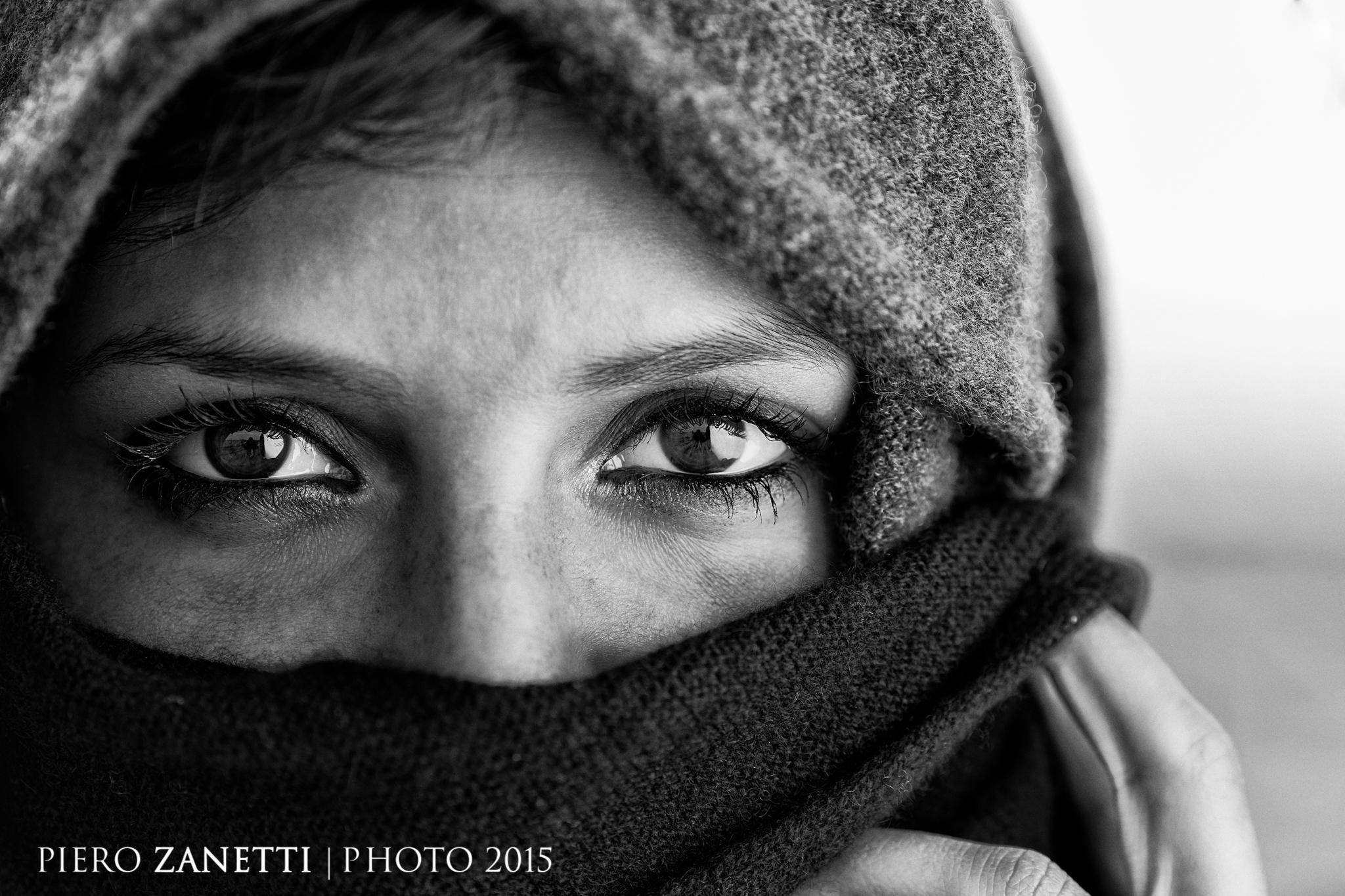 Eyes b/w...