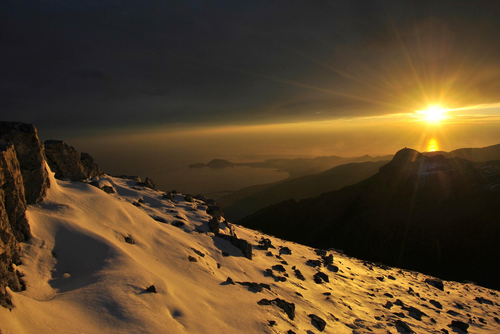 The sun suddenly ......