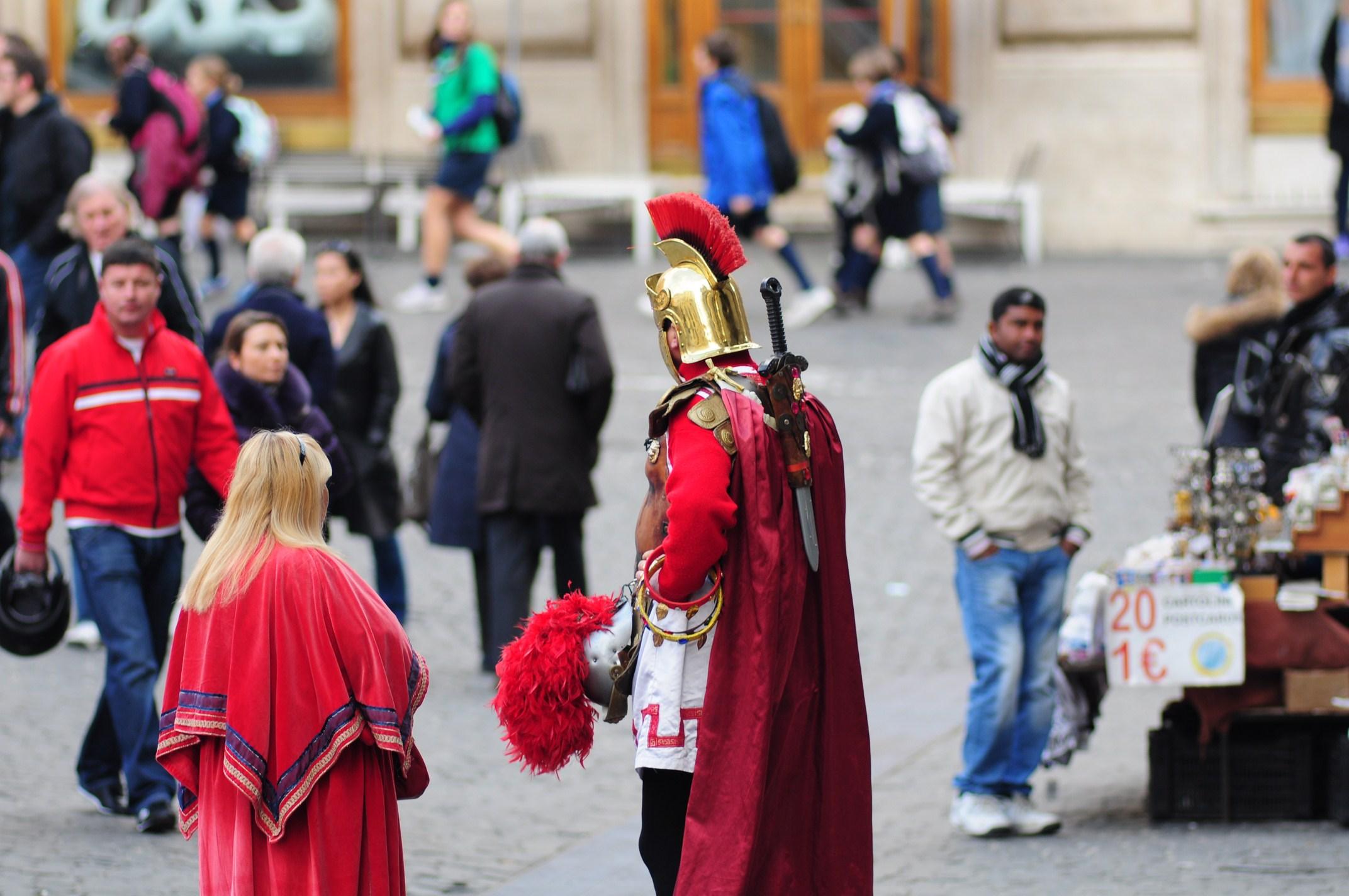 Roma - il gladiatore e la sua compagna...