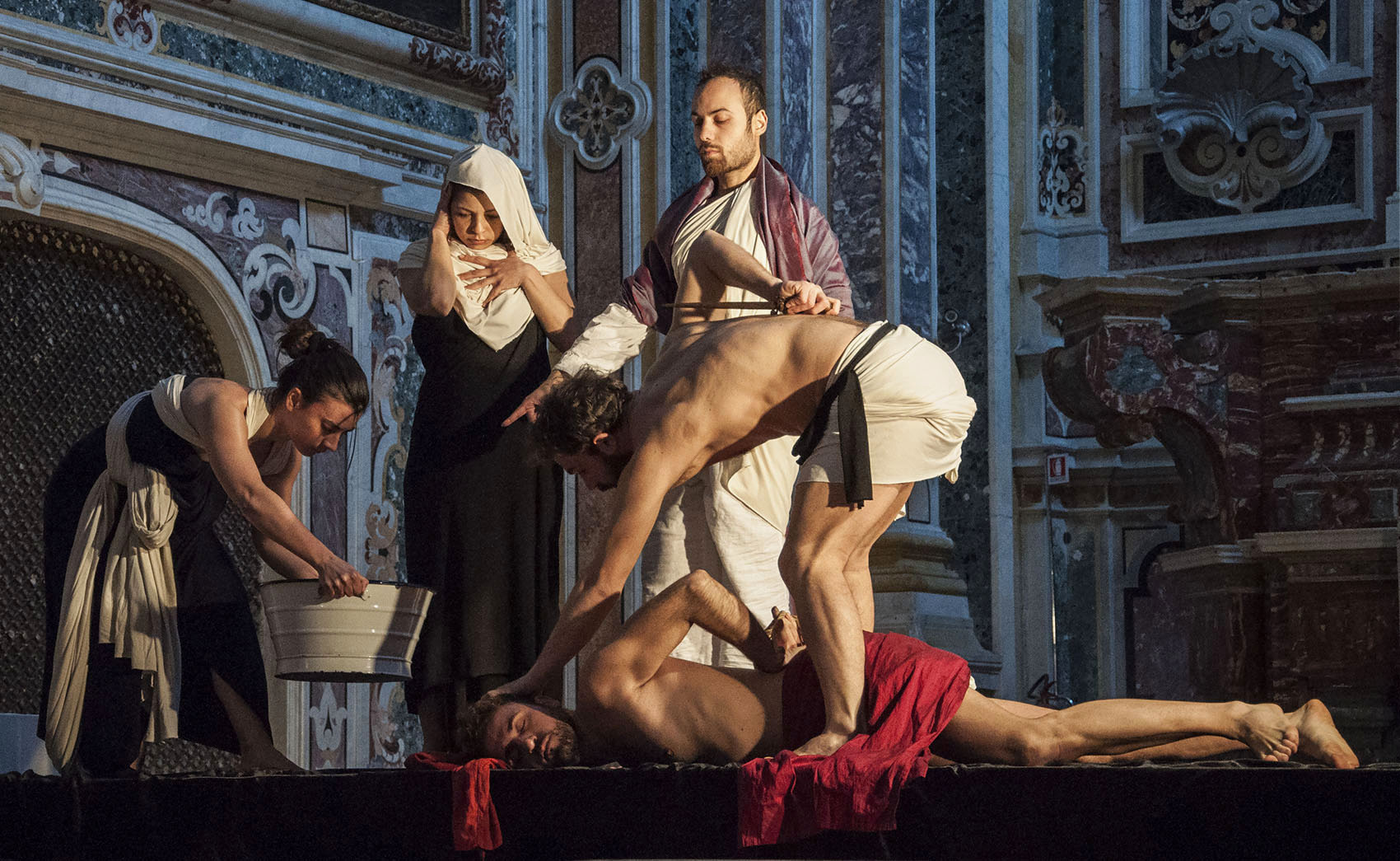 "Beheading of the Baptist ""tableaux vivants""..."