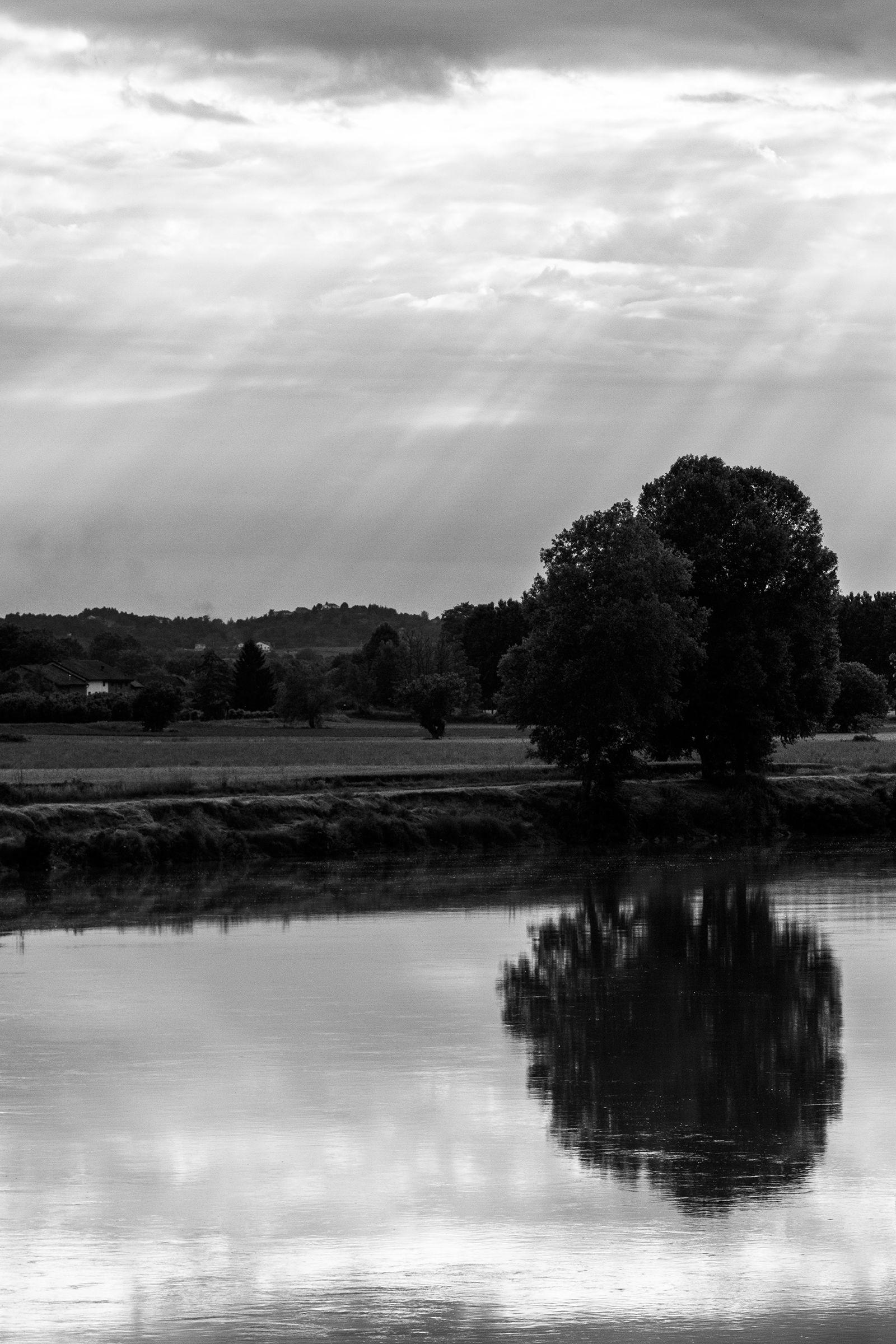 Reflection b & n...