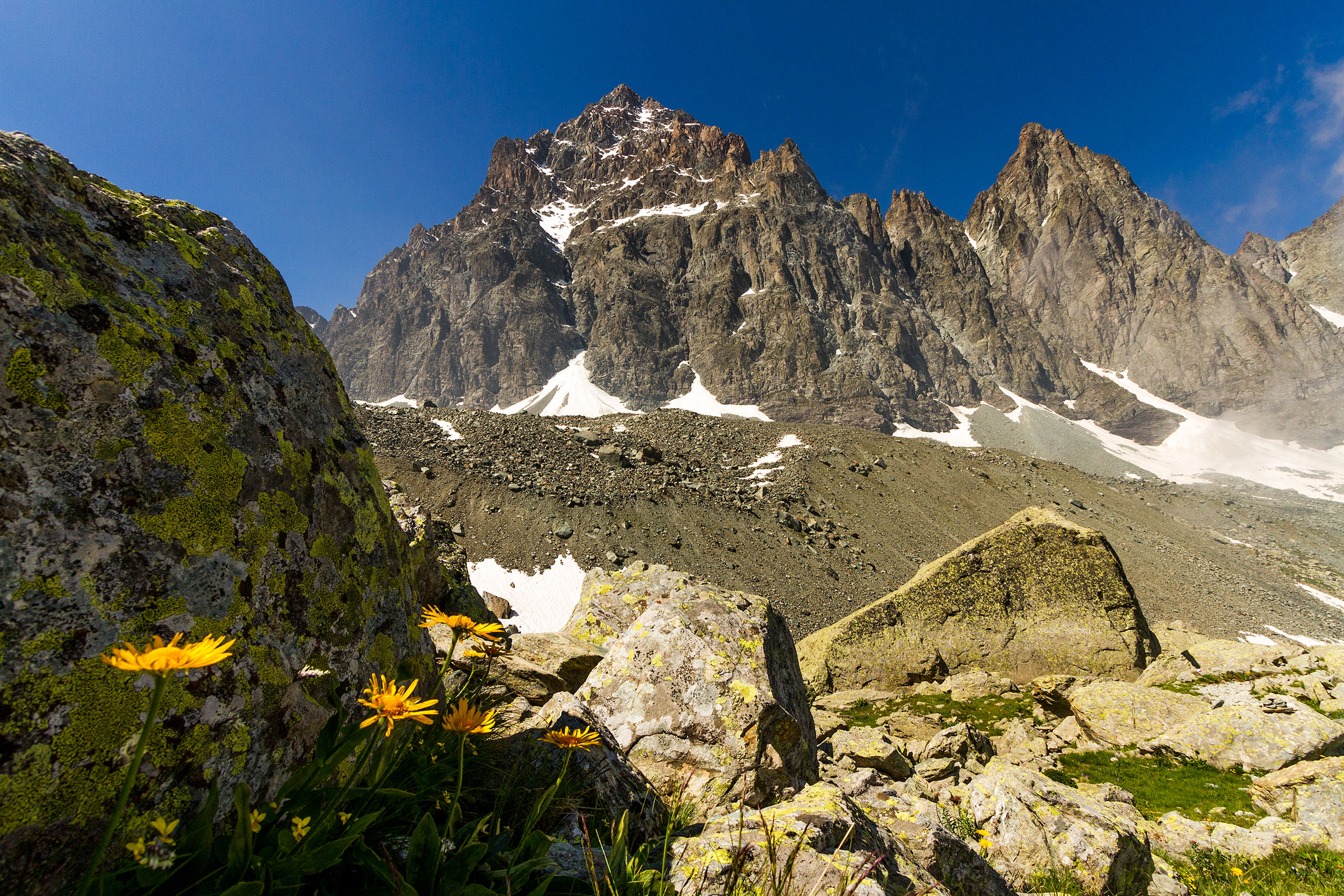 Viso from the trail leading to Quintino Sella...