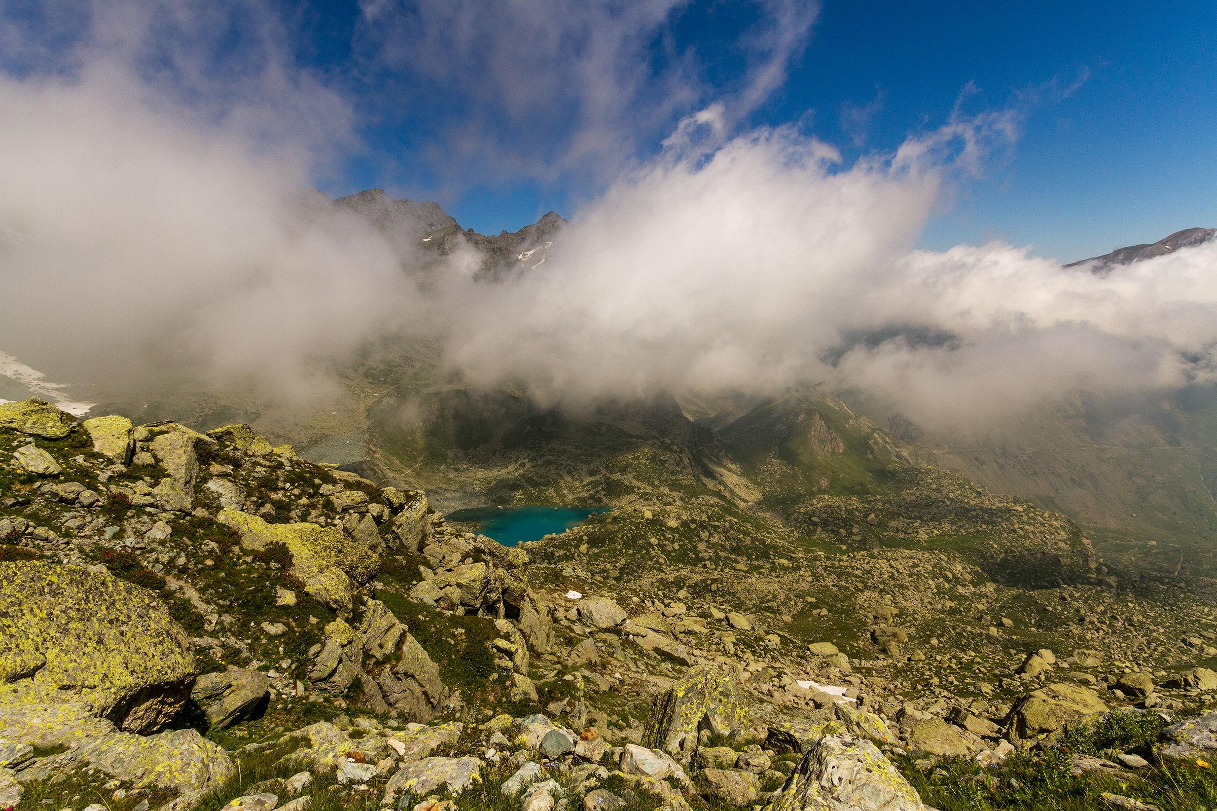 The lake Chiaretto...