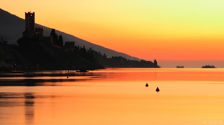 A fabulous sunset in Malcesine...