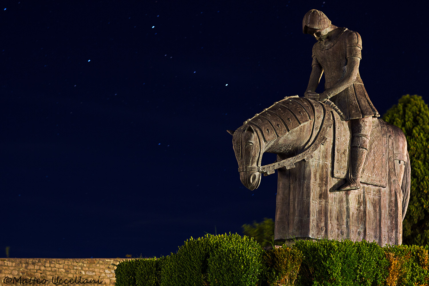 Statue of rider Francesco, Assisi...