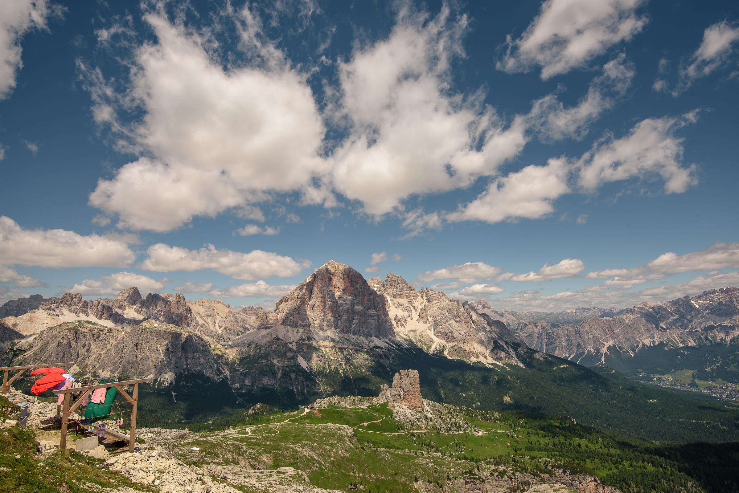 Bucato in alta montagna...