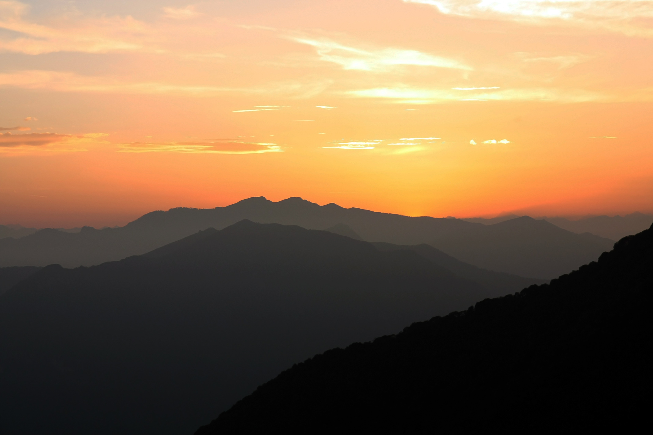 Sunset from Mount Pallanzone...
