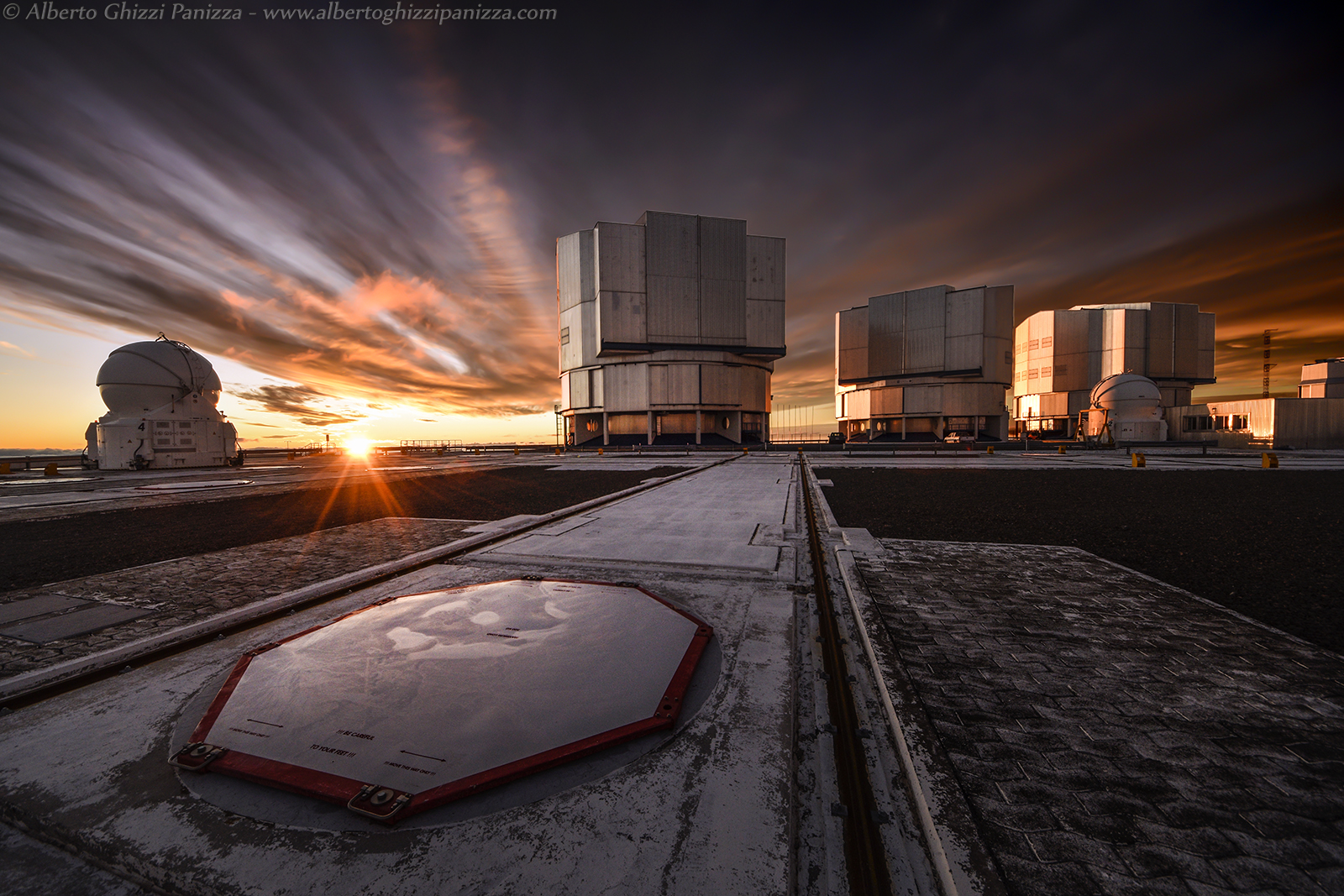 A sunset unusual for Paranal...