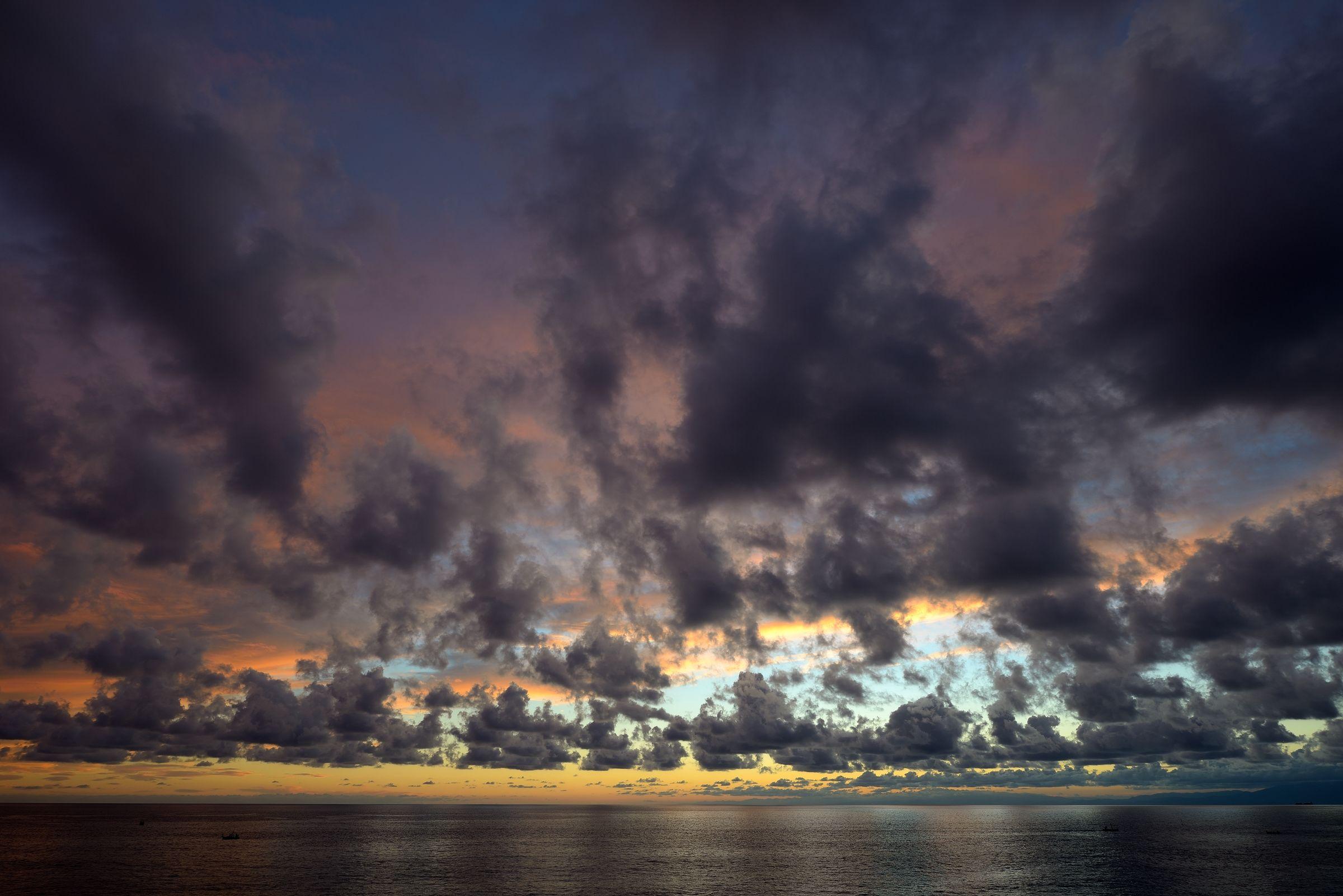 The clouds of Camogli...