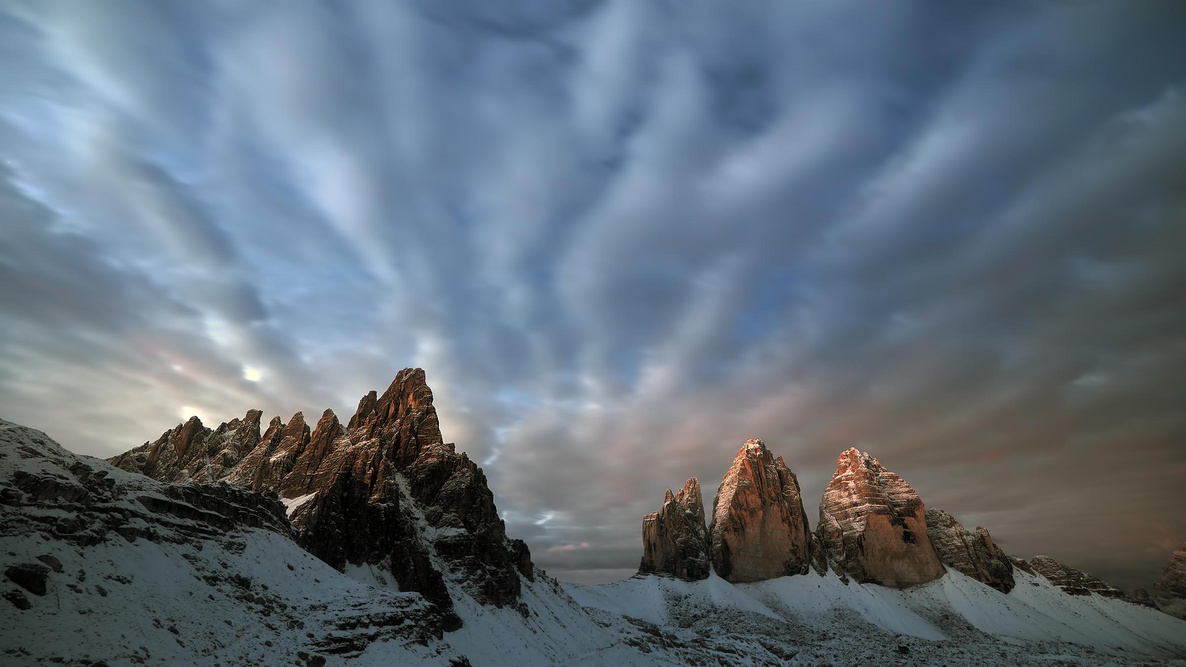 A sunrise on the Three Peaks...