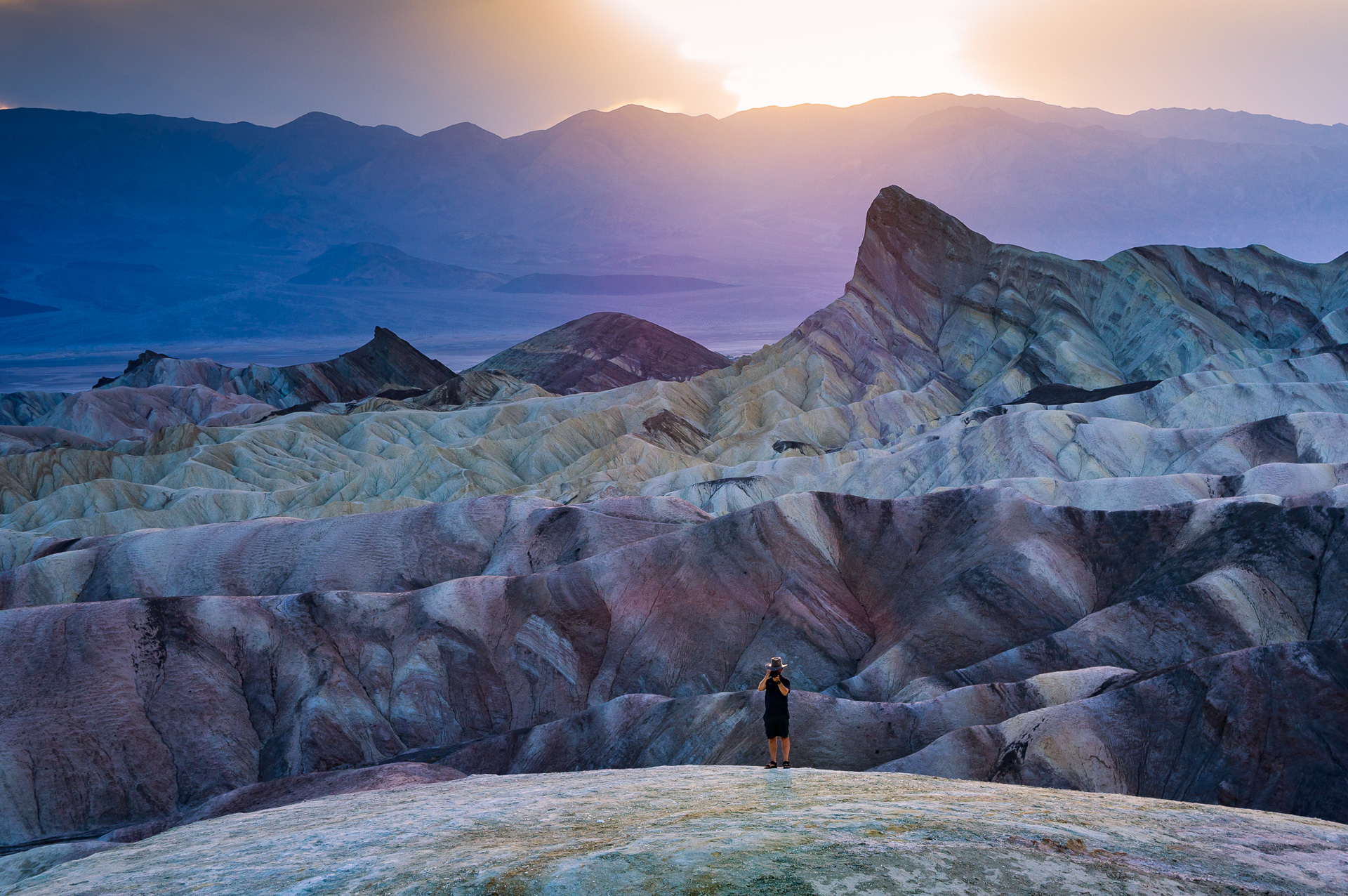 Sunset Zabriskie Point...