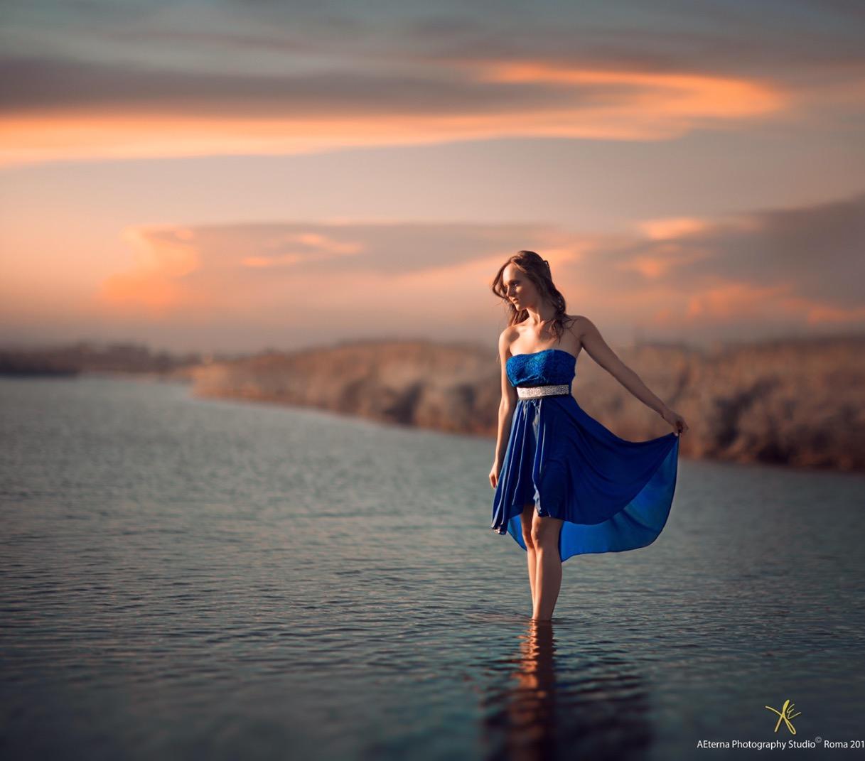 Blue lake...