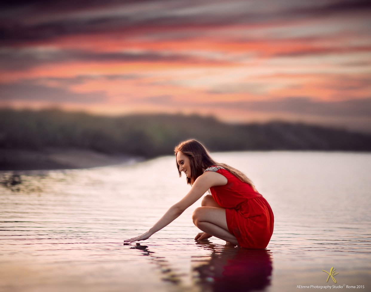 Red in the water...