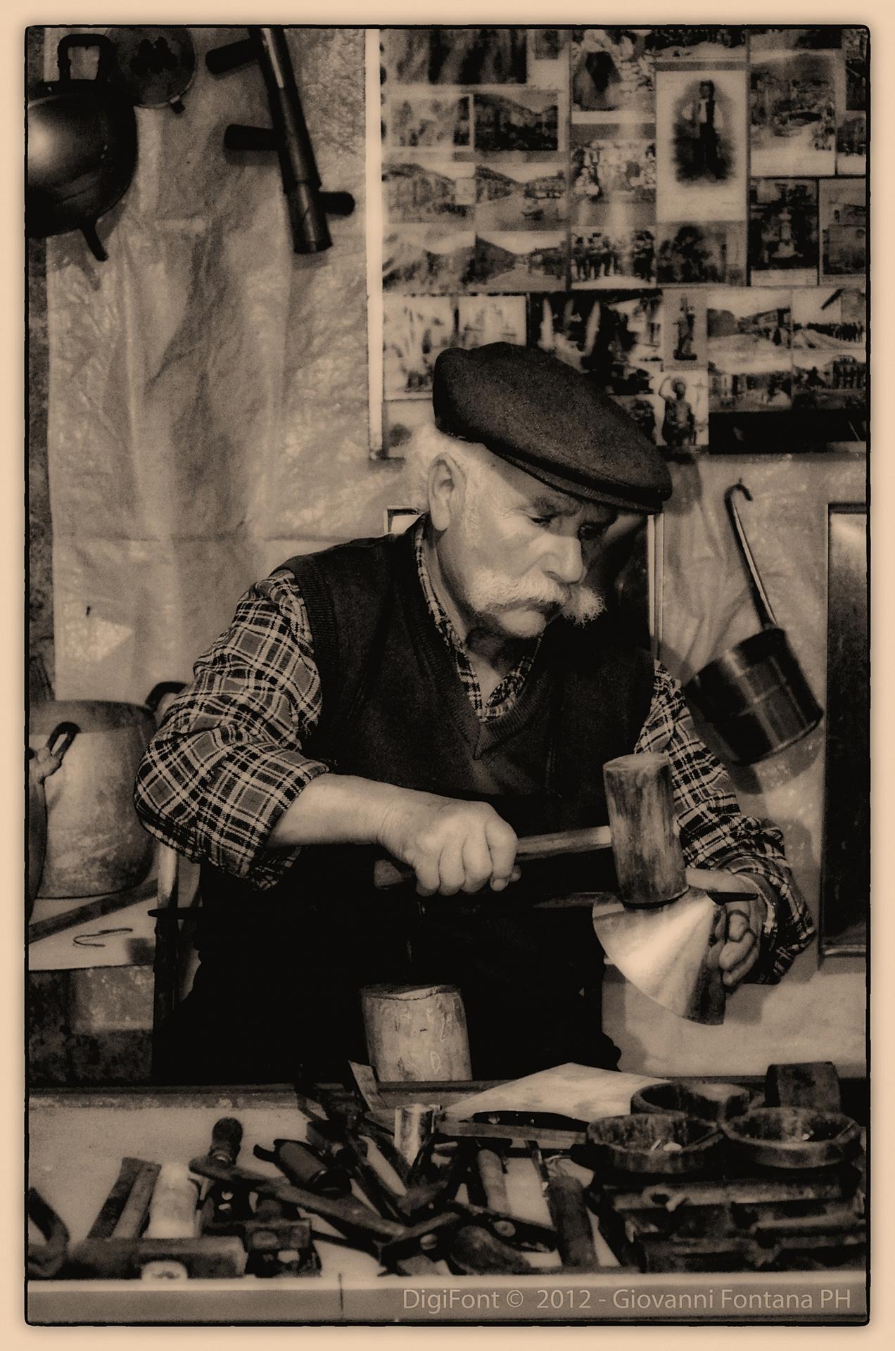 The tinsmith...