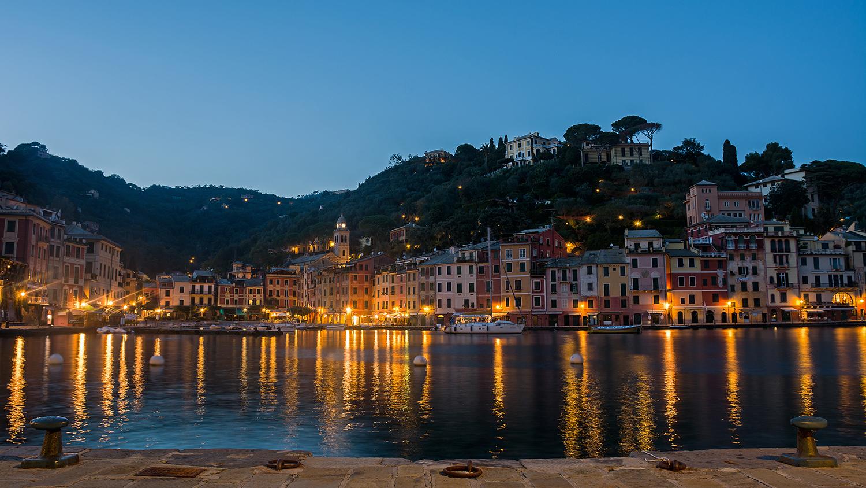 The blue hour of Portofino...