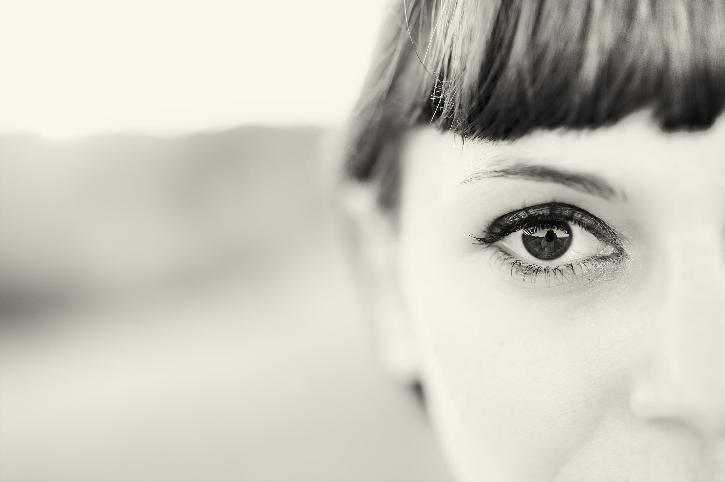 half face...