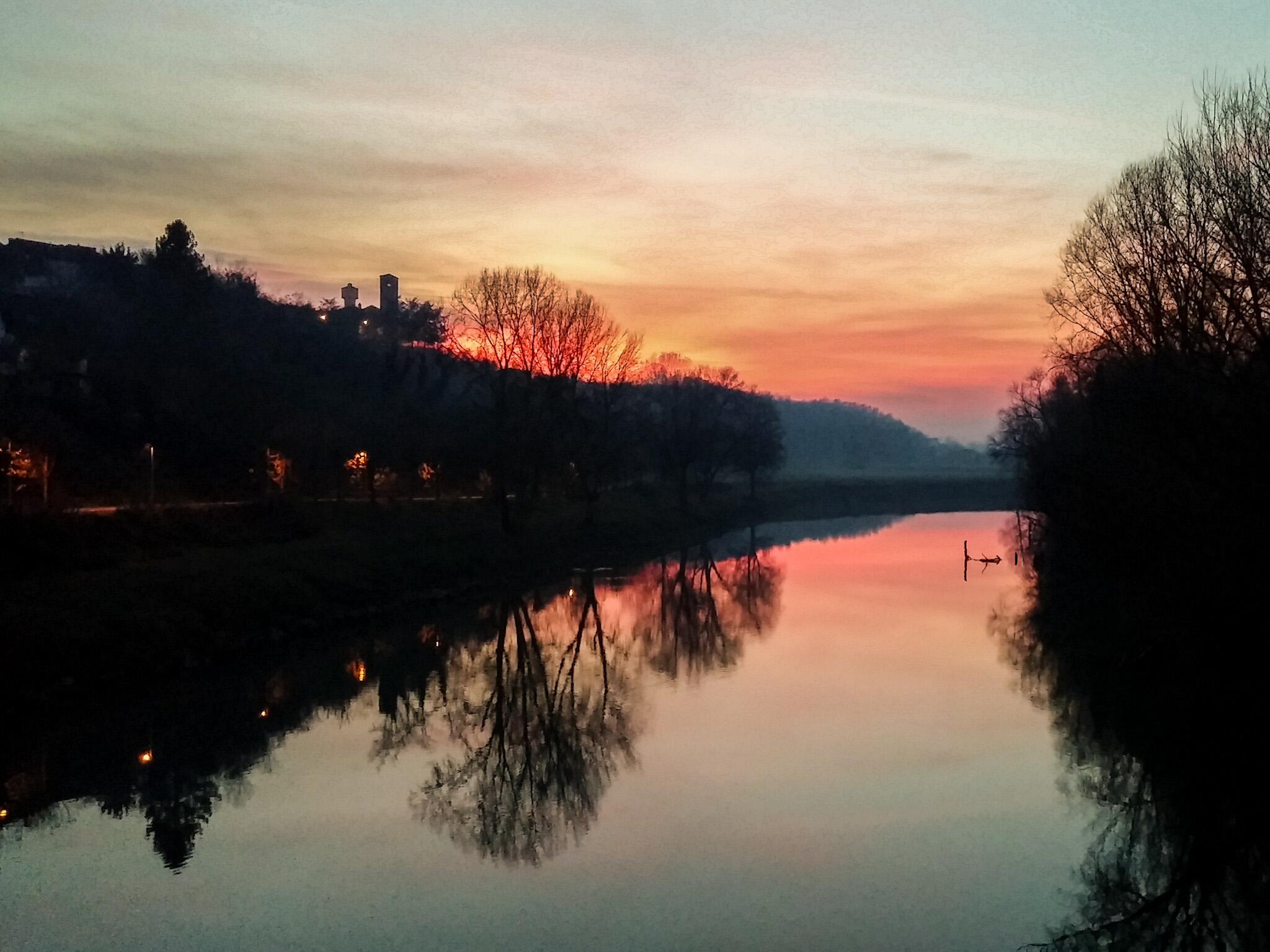 sunset on Transit...