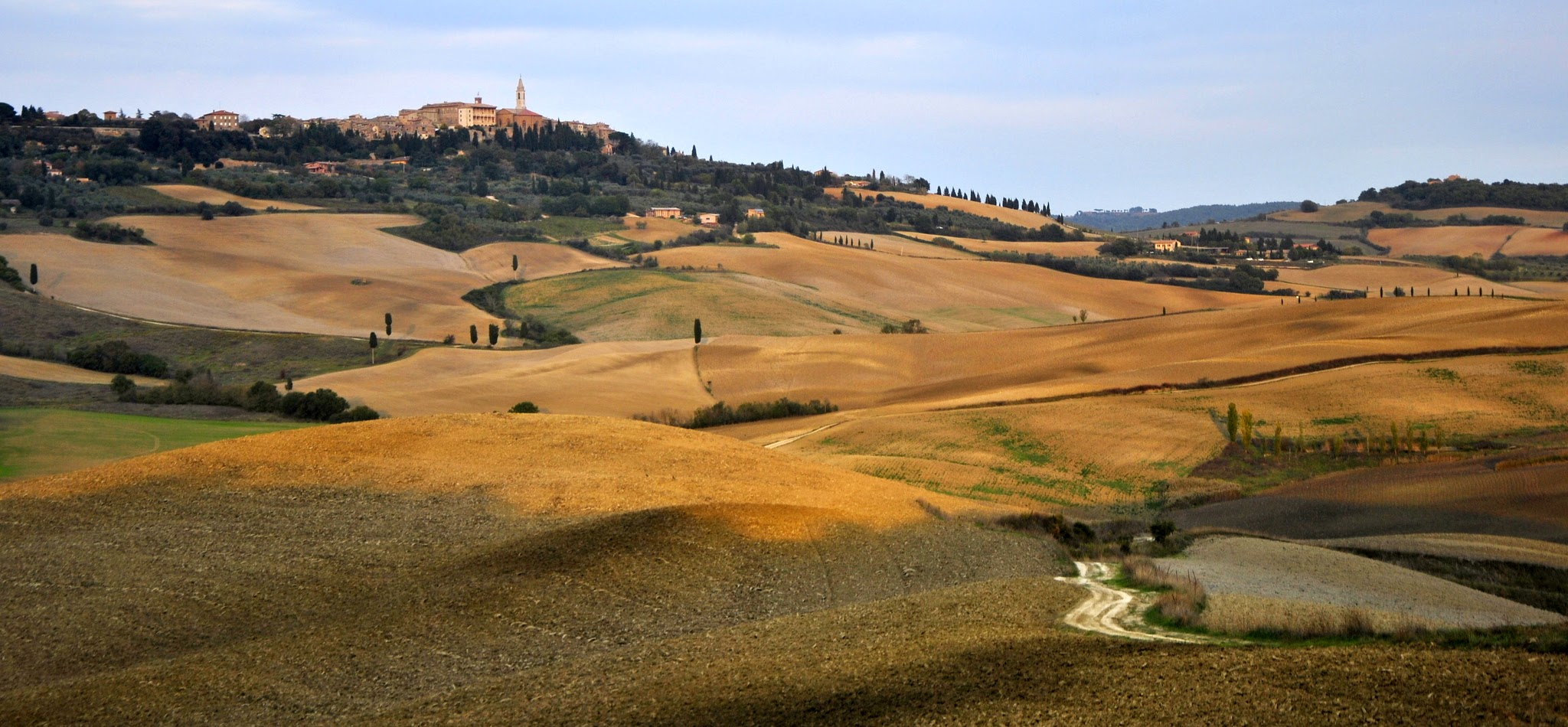 Pienza kissed by the light of sunset ......