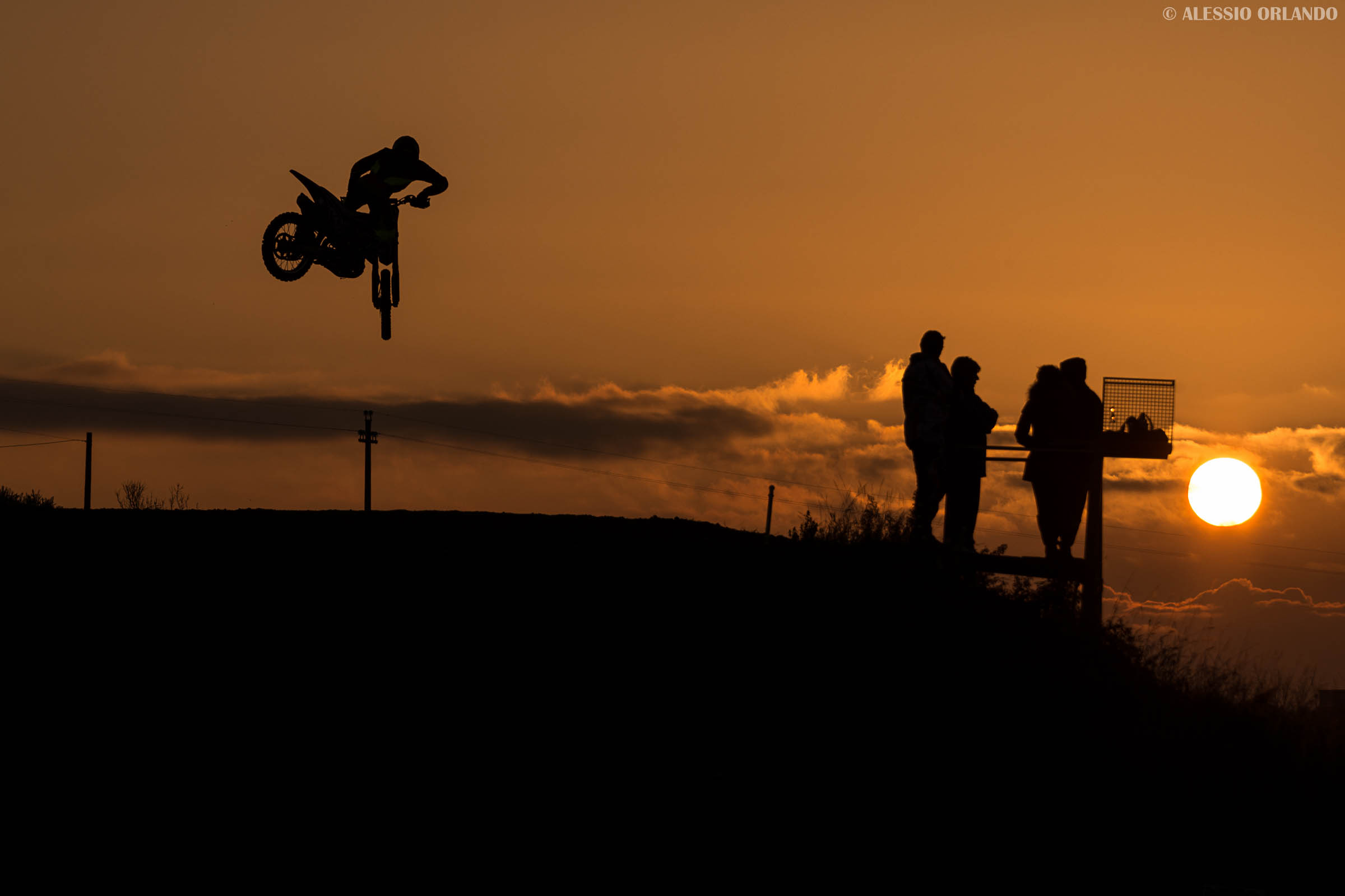 Jumping into the sunset...