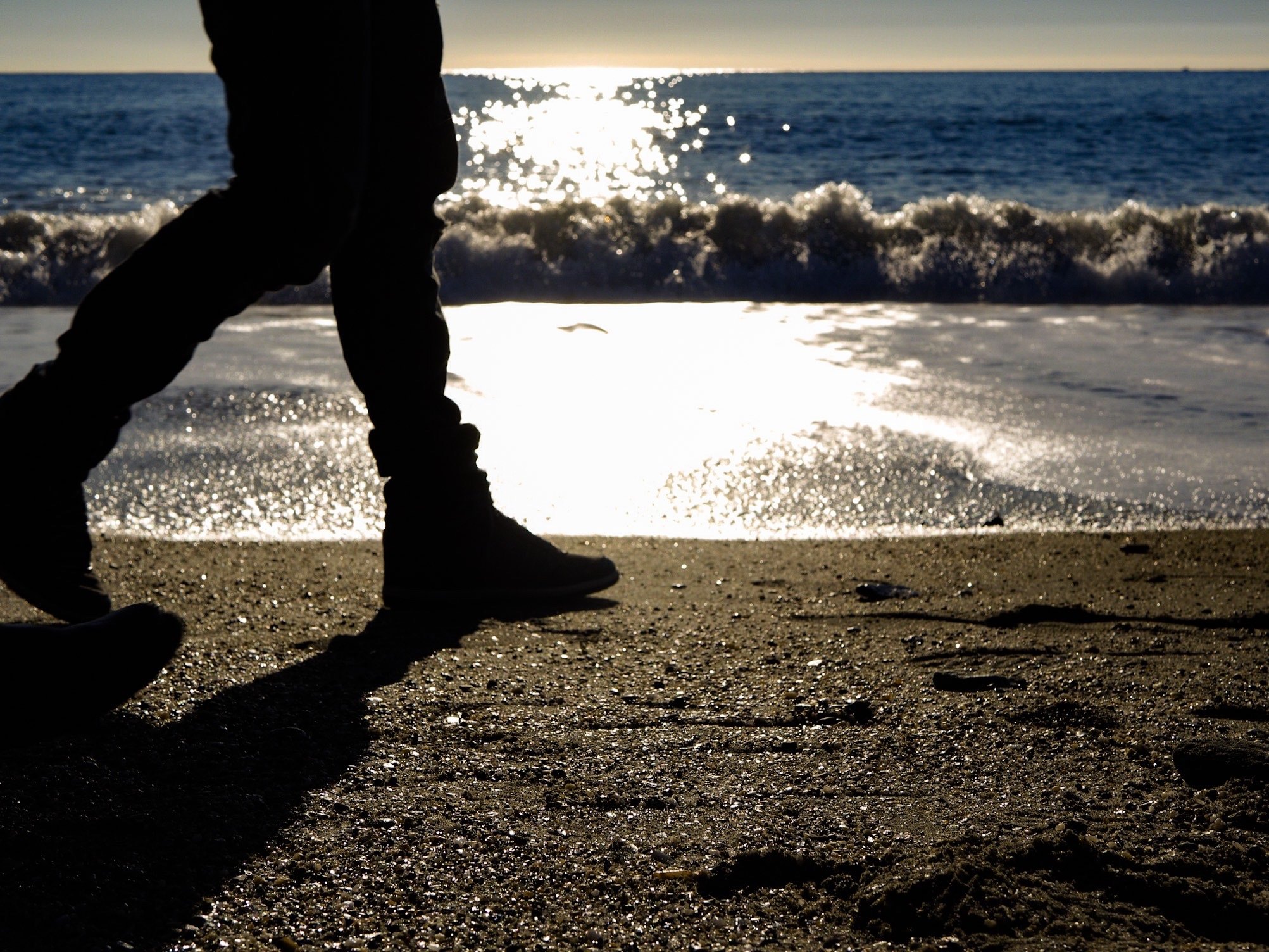 Two steps on the beach .....