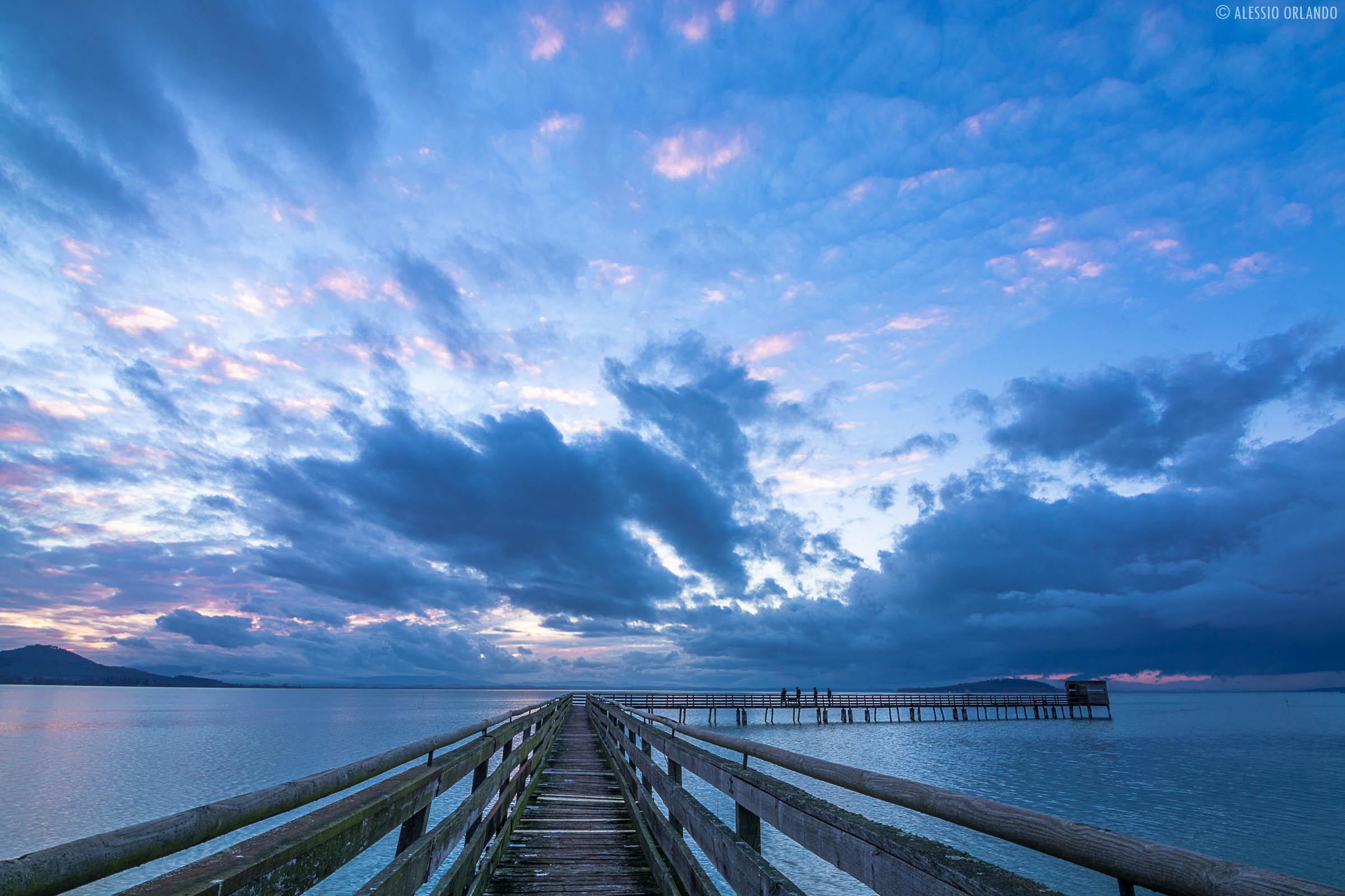 Sunset on the pier...
