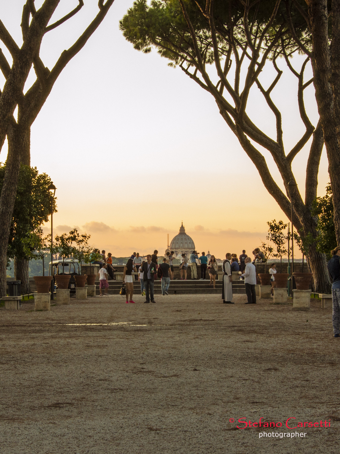 San Pietro visto dal Giardino degli Aranci all'Aventino...