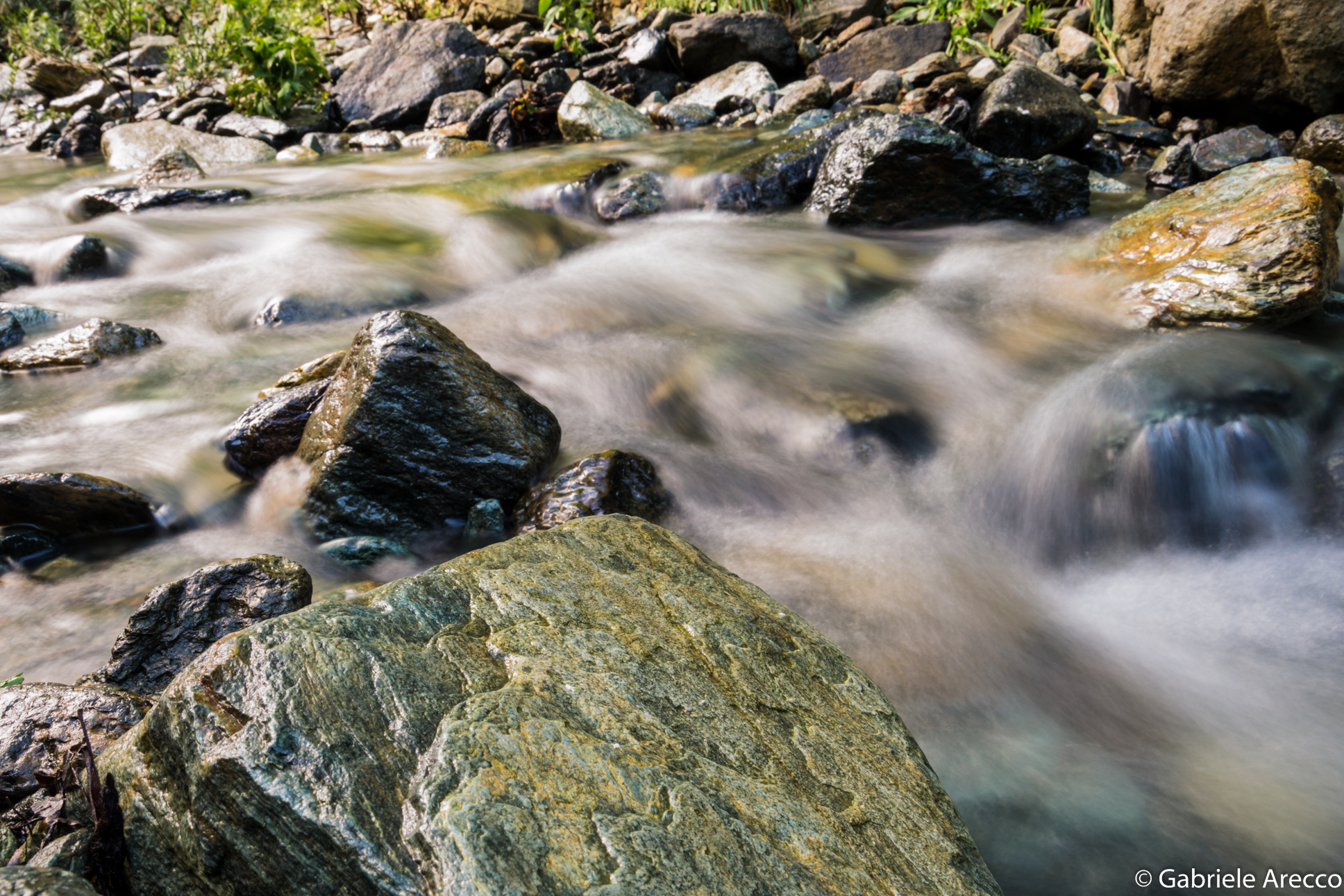 The stream between the rocks...
