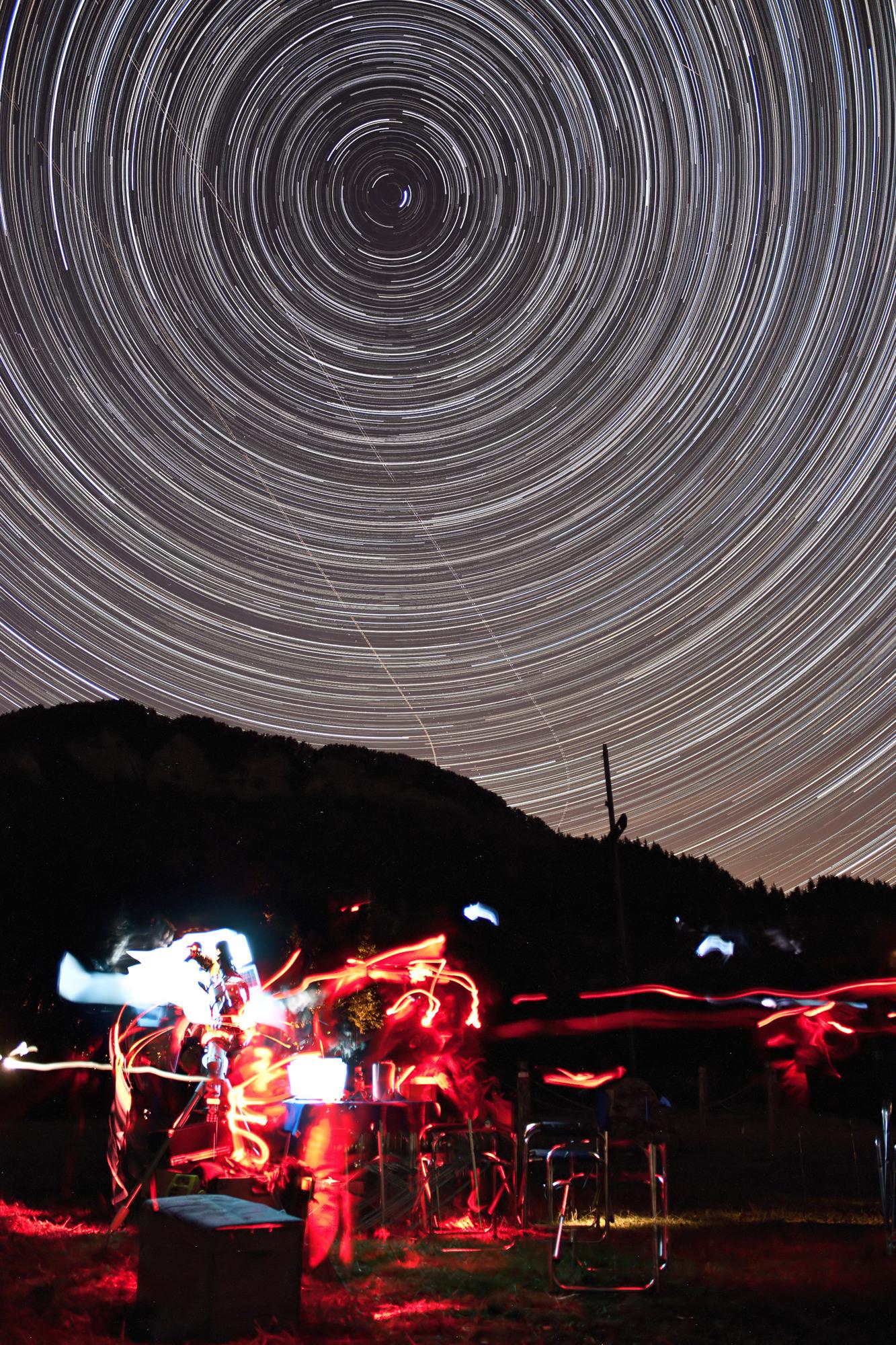Una tipica serata di Astrofotografia.....