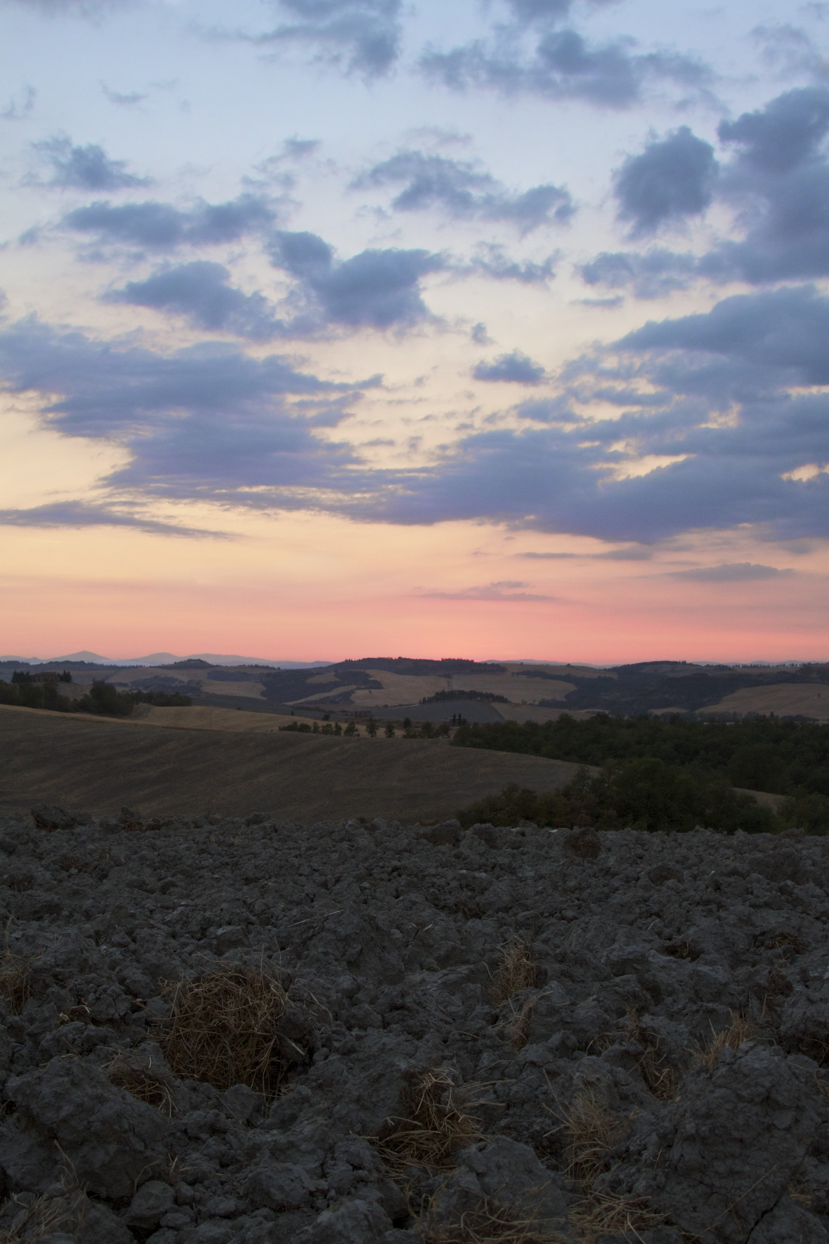 Sunset in Val d 'Orcia...